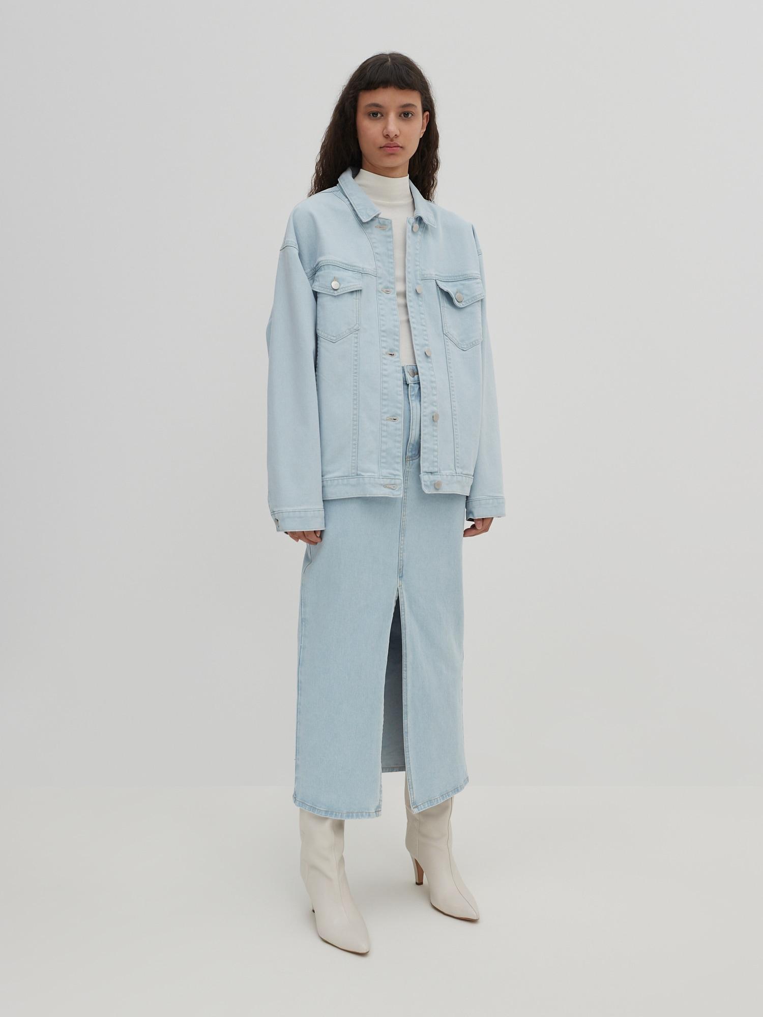 EDITED Prechodná bunda 'Hatti'  modrá denim.