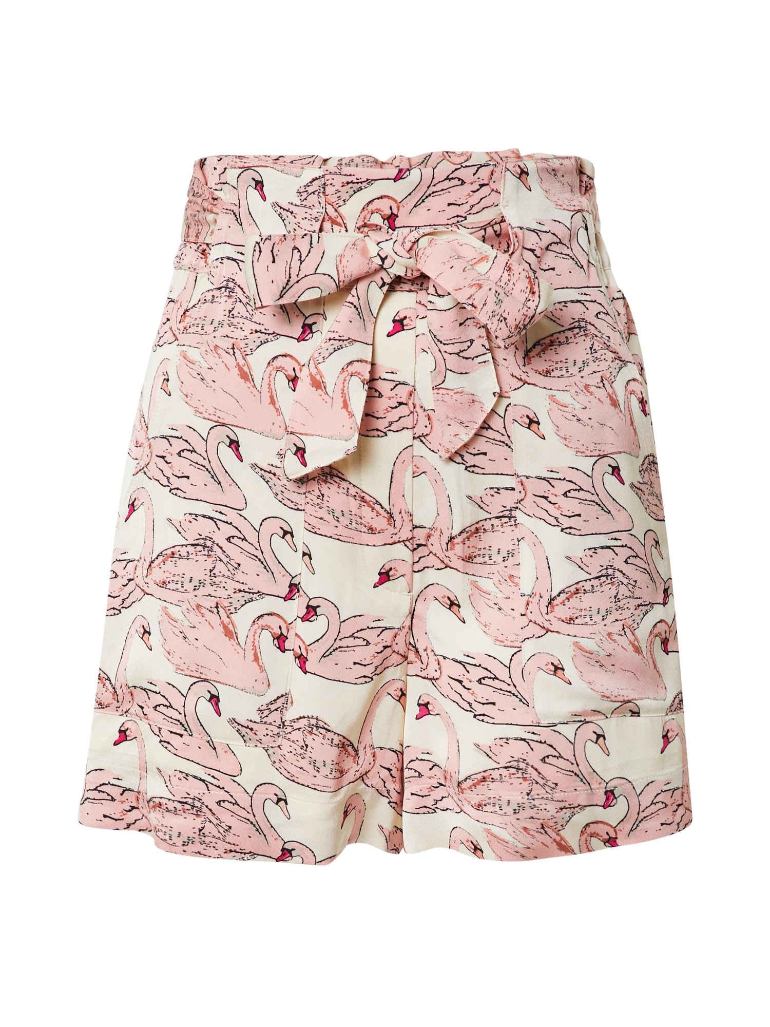 Fabienne Chapot Kalhoty 'Olivia'  bílá / růžová / černá