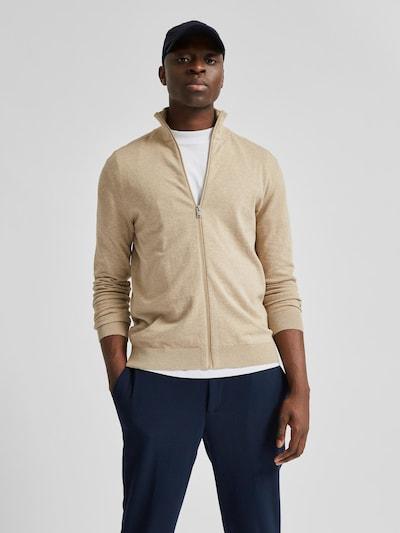 Selected Homme Berg Strickjacke mit hohem Kragen und Reißverschluss