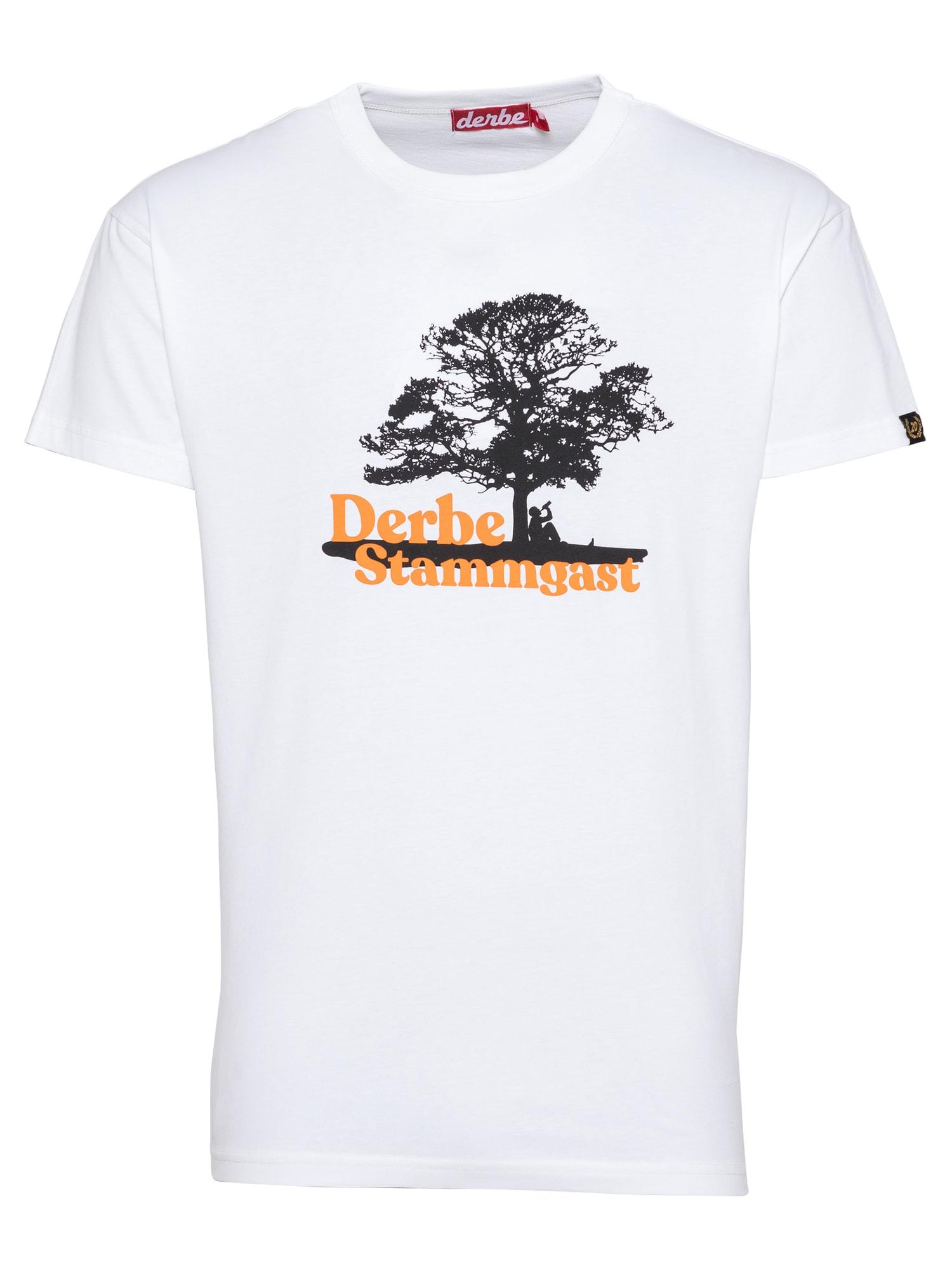 Derbe Marškinėliai balta / juoda / oranžinė