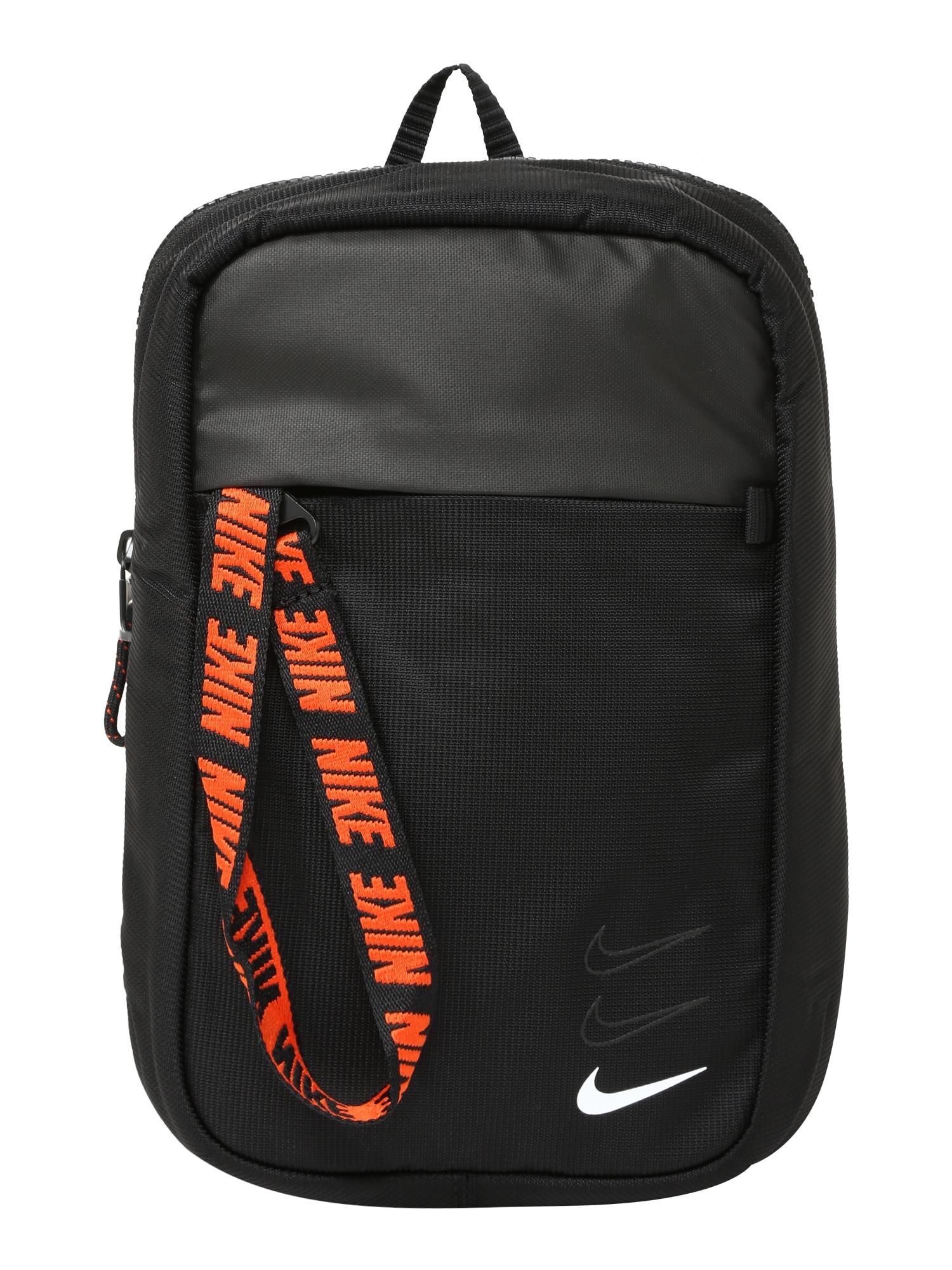 NIKE Sportovní taška 'Advance'  oranžová / černá