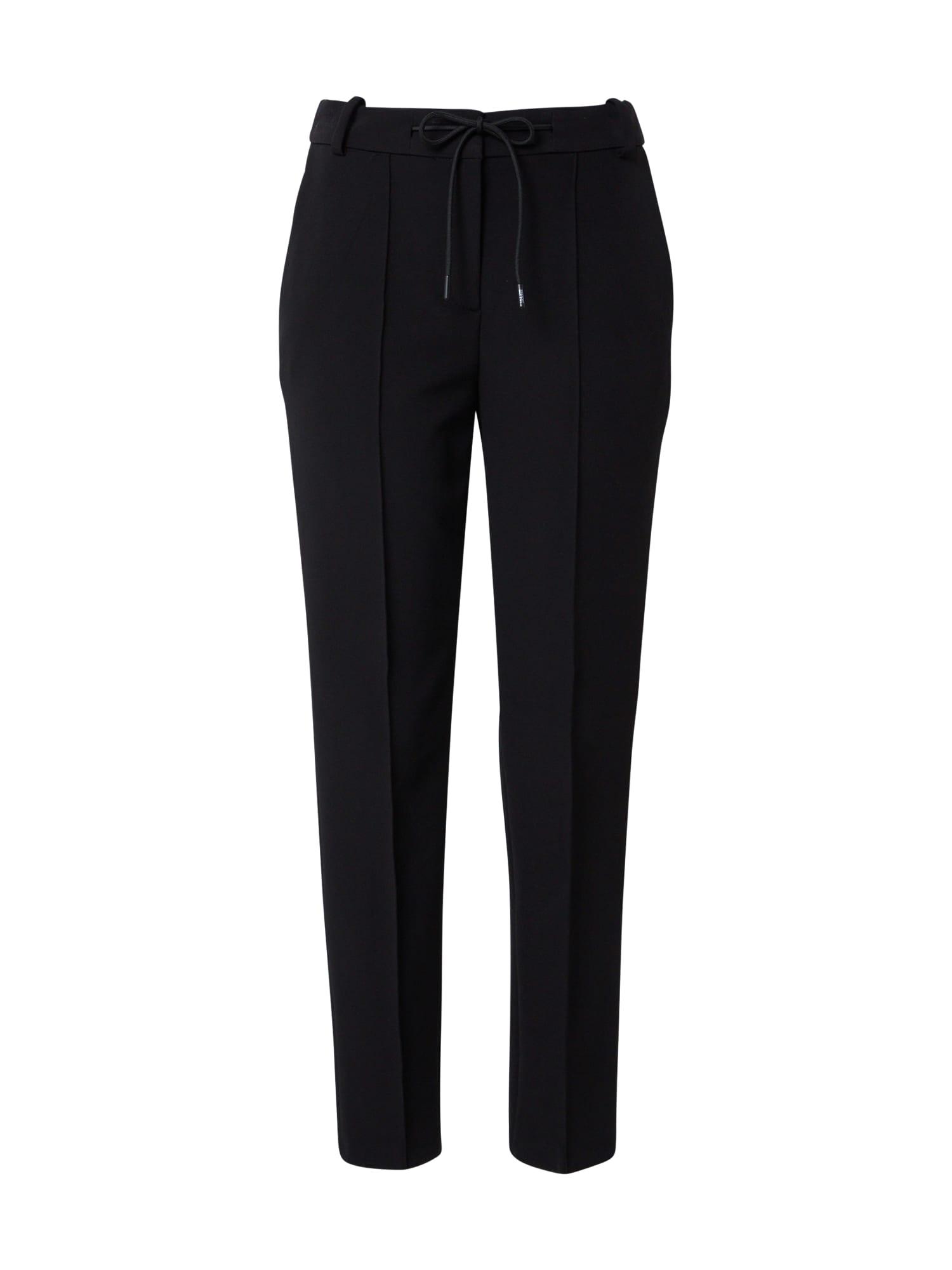 Esprit Collection Kelnės su kantu juoda