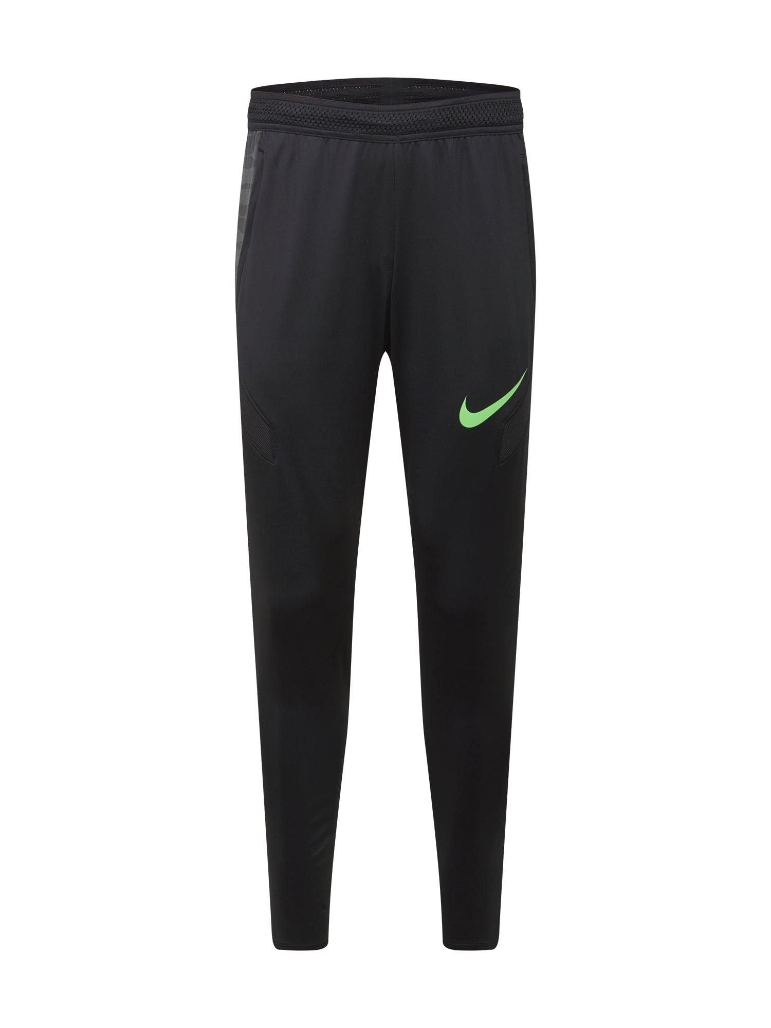 NIKE Sportinės kelnės juoda / neoninė žalia / pilka