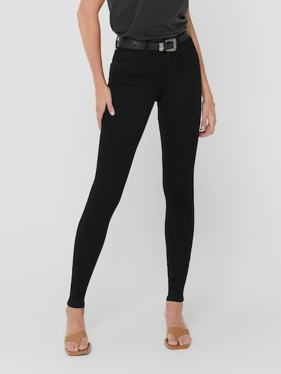 Only Royal Life Low Rise Black Skinny Jeans