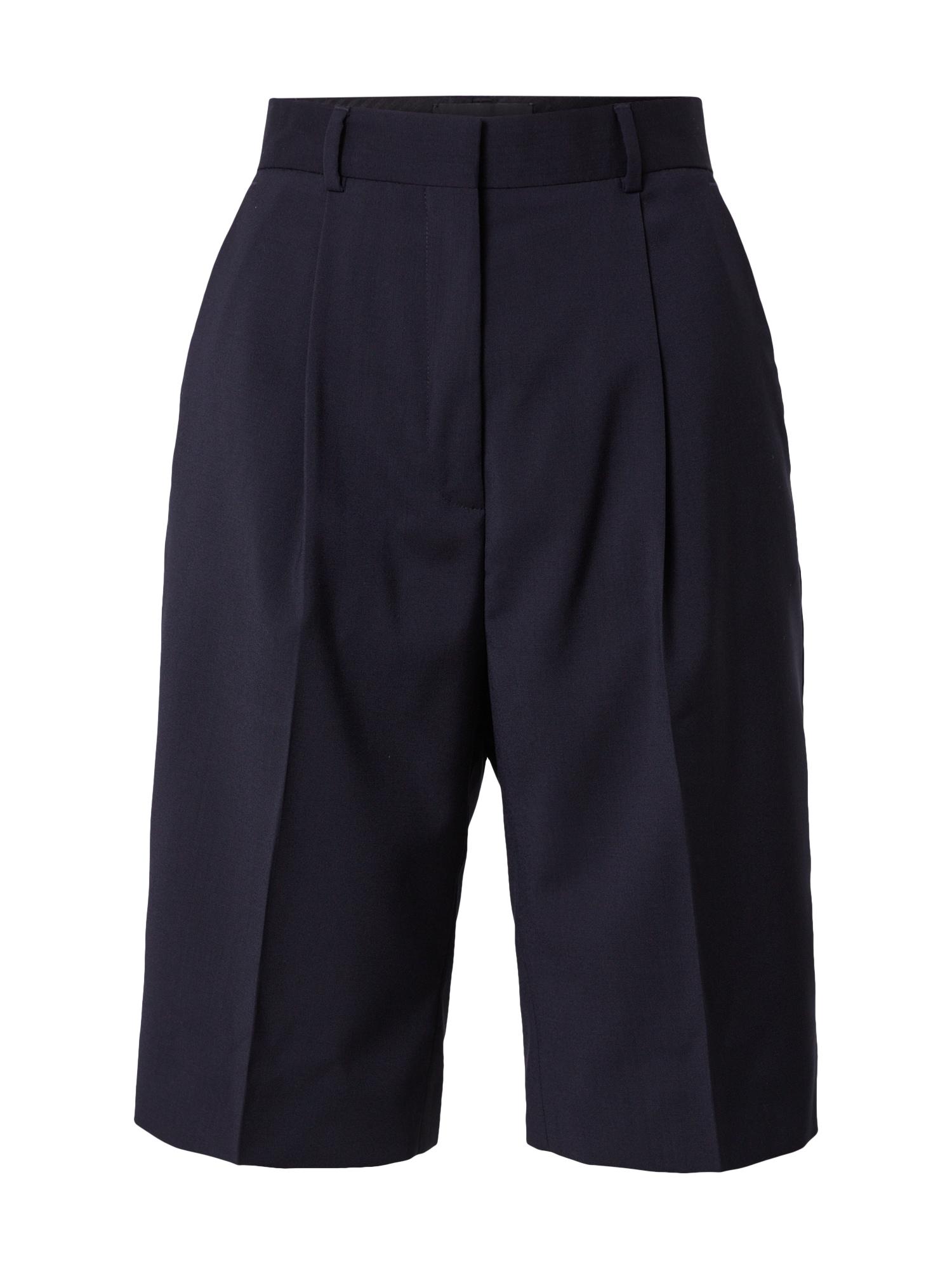 The Kooples Klostuotos kelnės tamsiai mėlyna