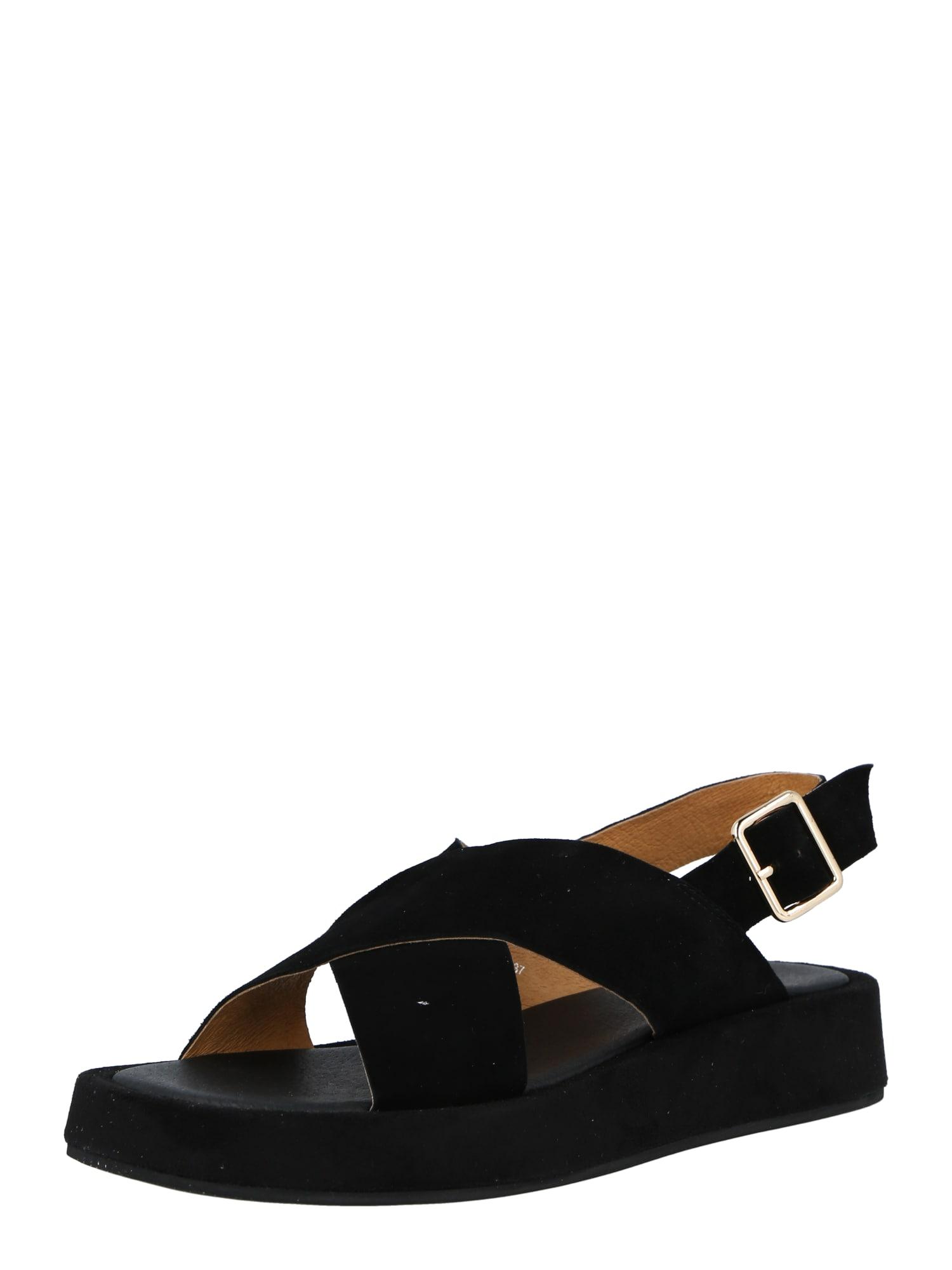 Shoe The Bear Páskové sandály 'ASTRID'  černá