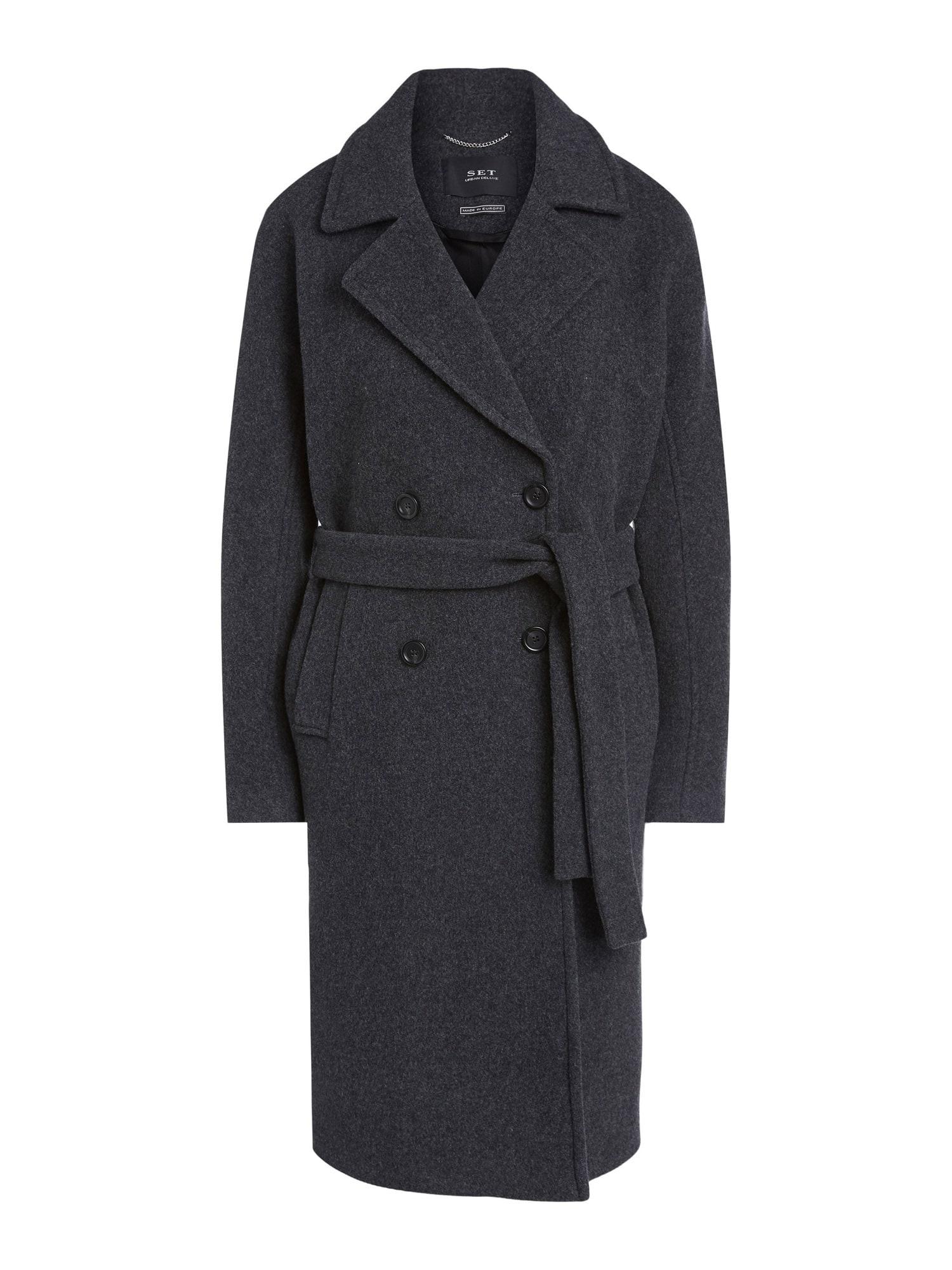 SET Přechodný kabát  tmavě šedá