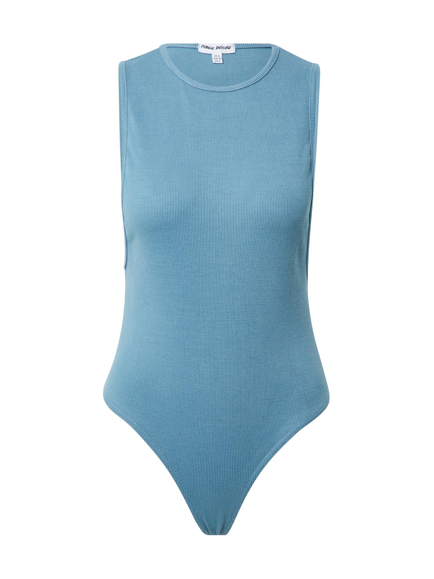 Public Desire Marškinėliai-glaustinukė mėlyna dūmų spalva