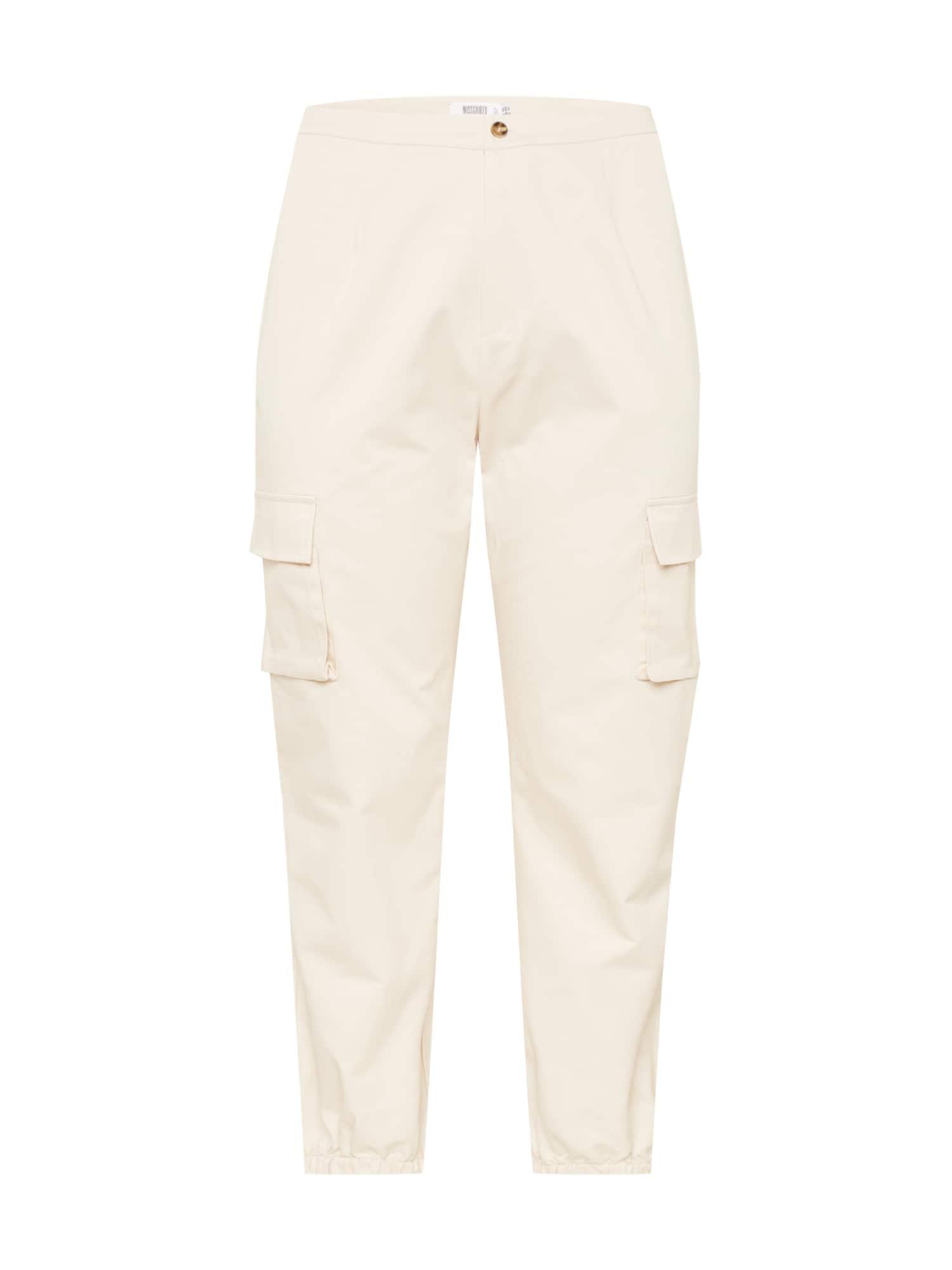 Missguided Plus Laisvo stiliaus kelnės vilnos balta