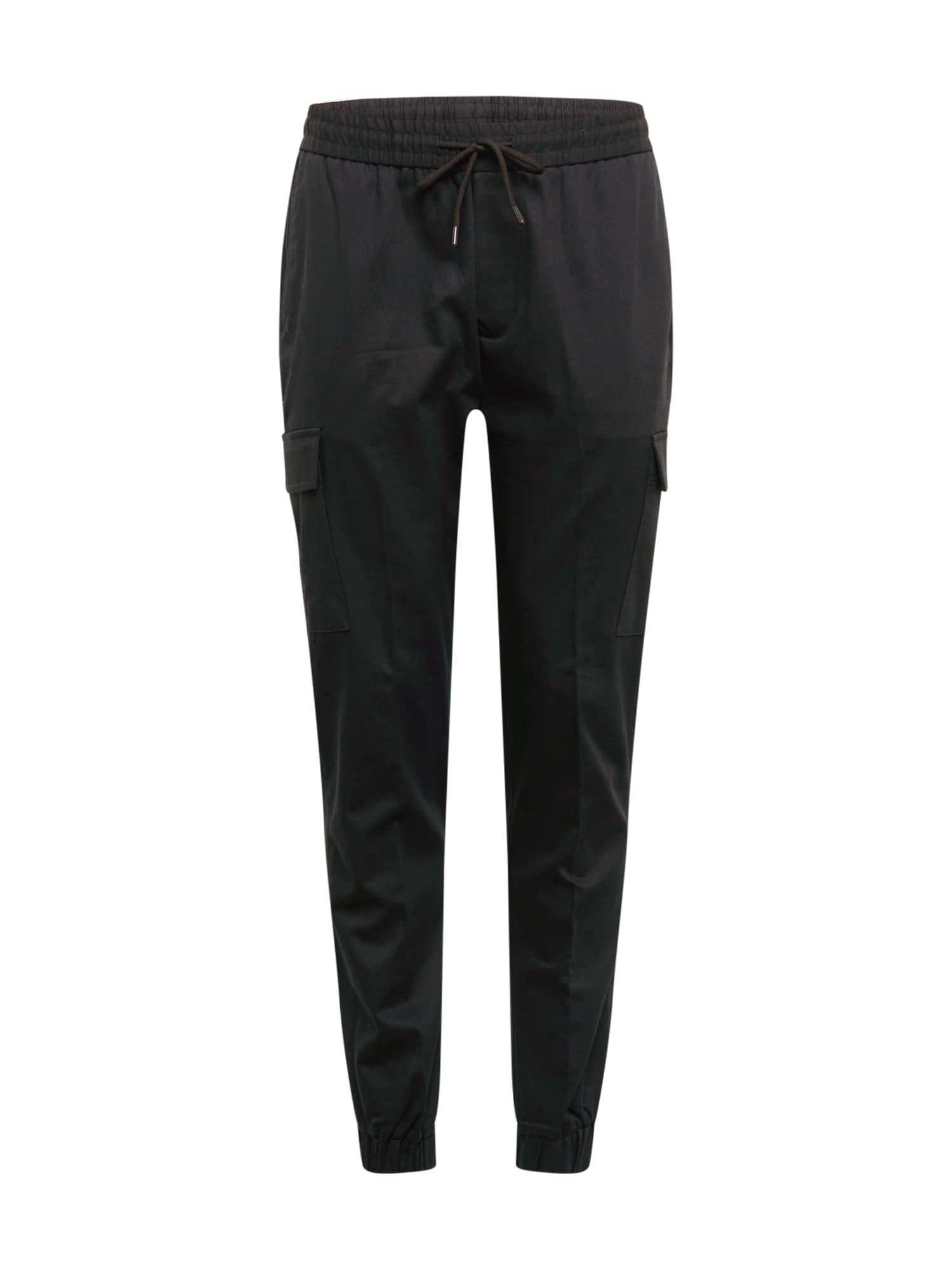BURTON MENSWEAR LONDON Laisvo stiliaus kelnės juoda