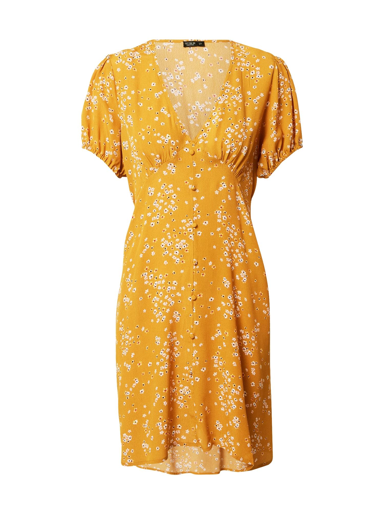 Cotton On Vasarinė suknelė mišrios spalvos / garstyčių spalva