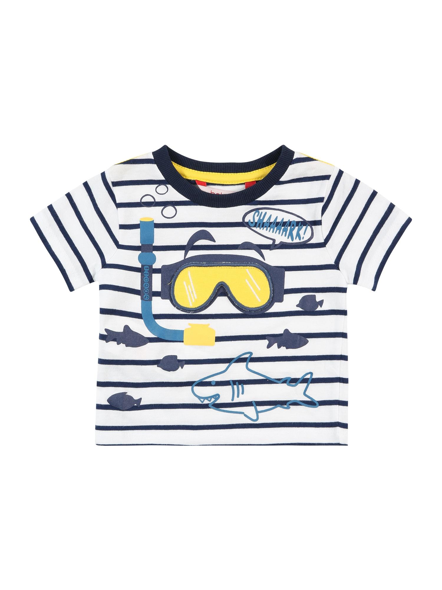 Boboli Marškinėliai balta / tamsiai mėlyna jūros spalva / geltona / mėlyna dūmų spalva
