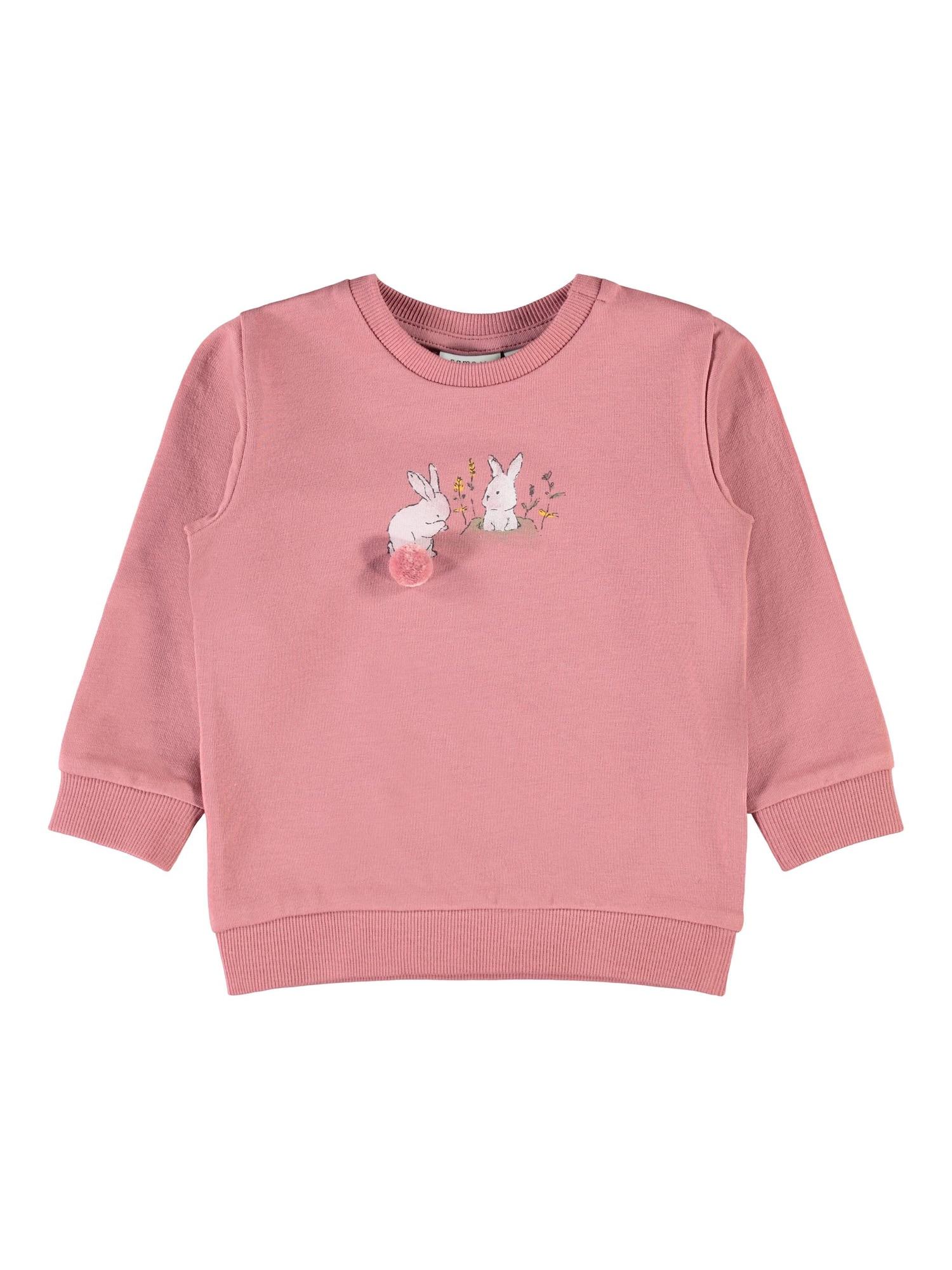 NAME IT Megztinis be užsegimo ryškiai rožinė spalva / balta