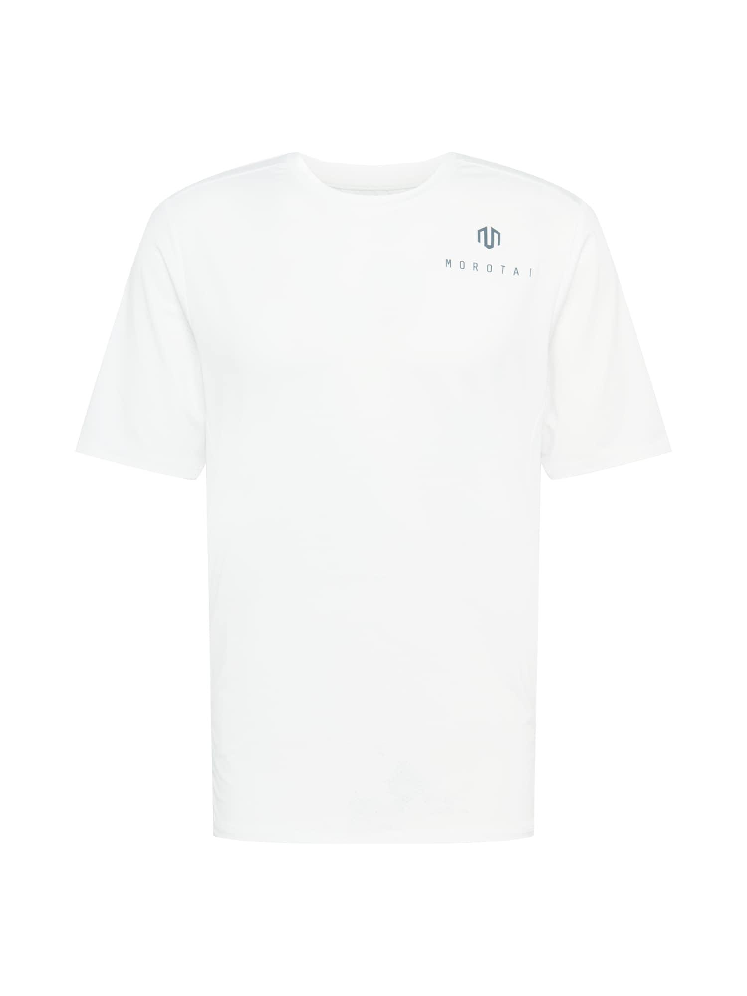 MOROTAI Sportiniai marškinėliai natūrali balta / tamsiai pilka