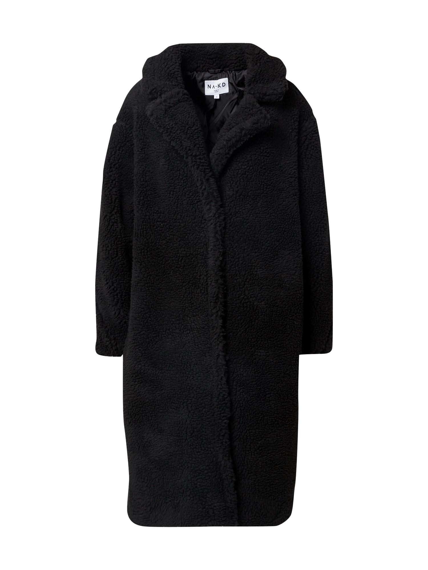 NA-KD Žieminis paltas juoda