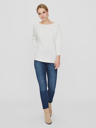 Vero Moda Nora T-Shirt mit 3/4-Ärmeln und U-Boot-Ausschnitt