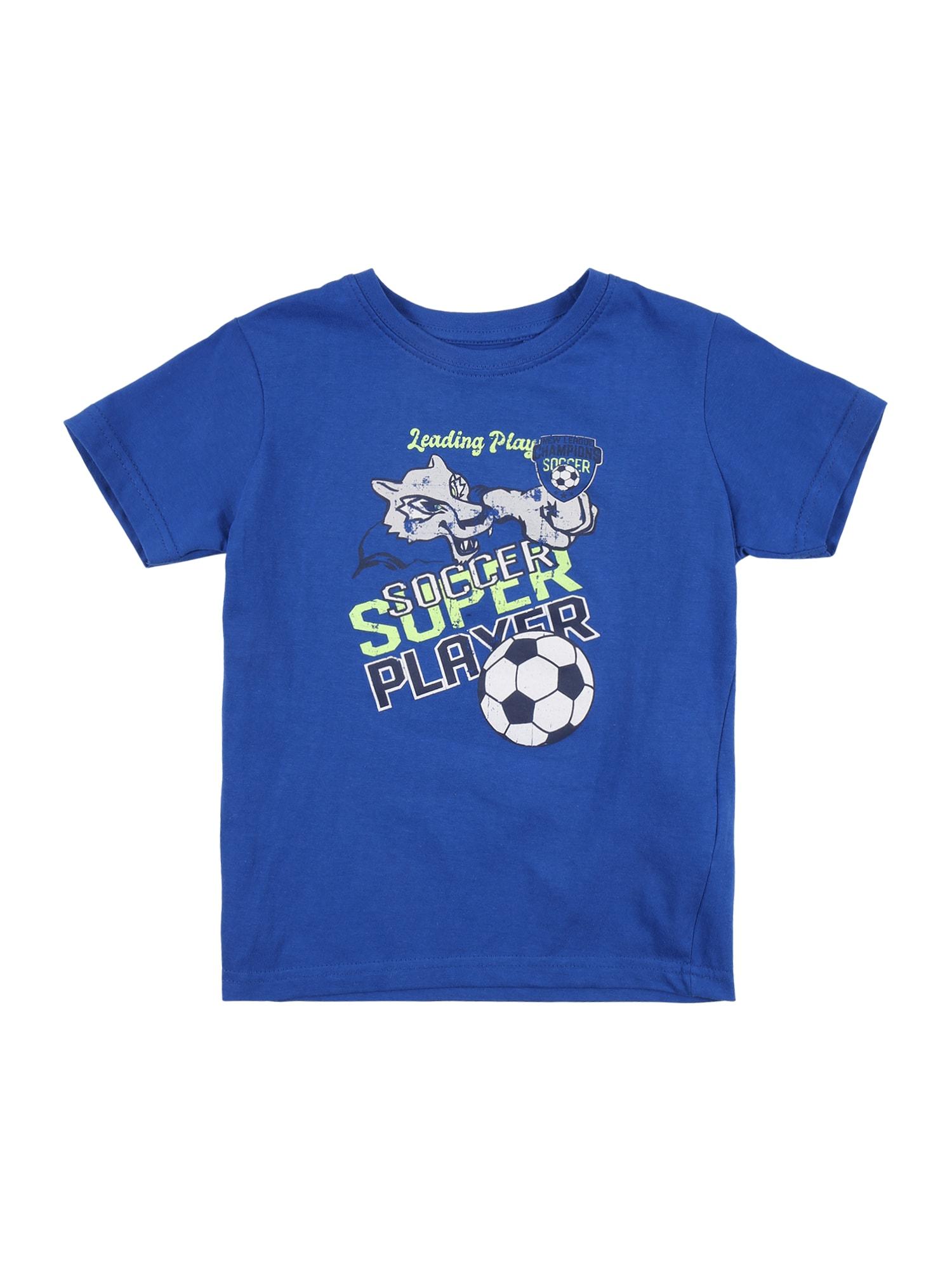 "BLUE SEVEN Marškinėliai sodri mėlyna (""karališka"") / balta / žaliosios citrinos spalva / tamsiai mėlyna jūros spalva"