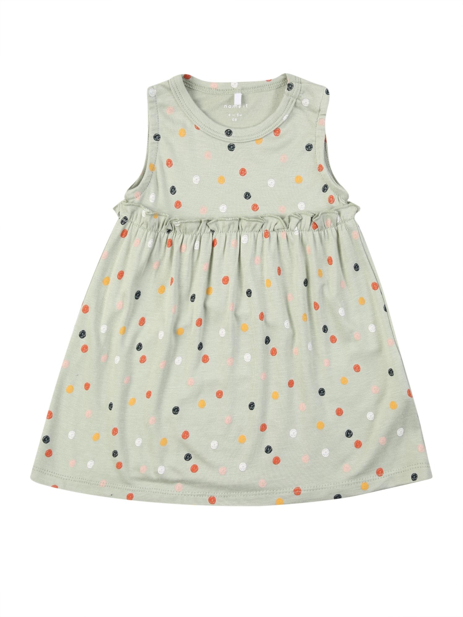 NAME IT Suknelė 'DAOMI SPENCER' žalia / nakties mėlyna / raudona / aukso geltonumo spalva / balta
