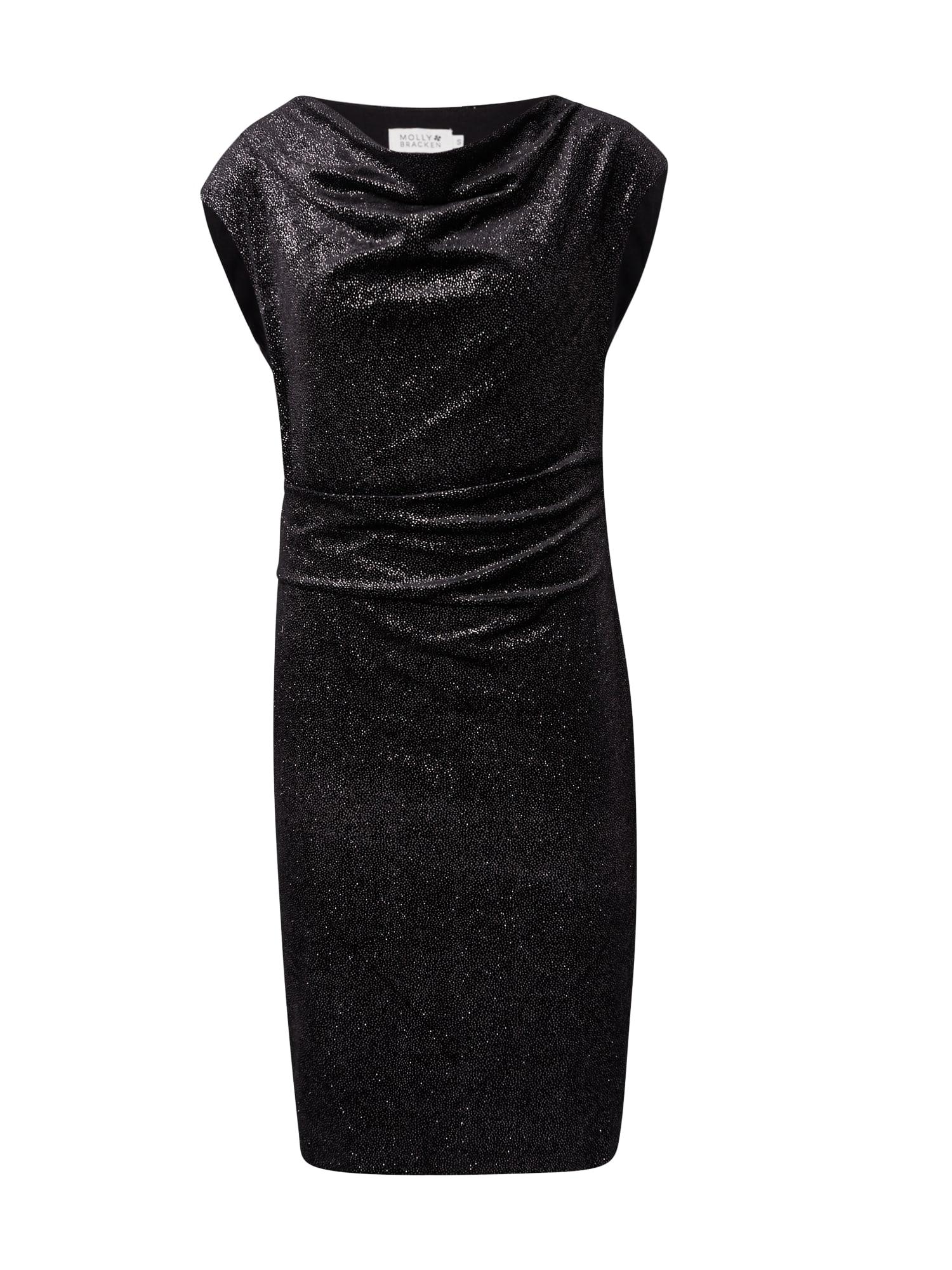 Molly BRACKEN Suknelė juoda / sidabrinė