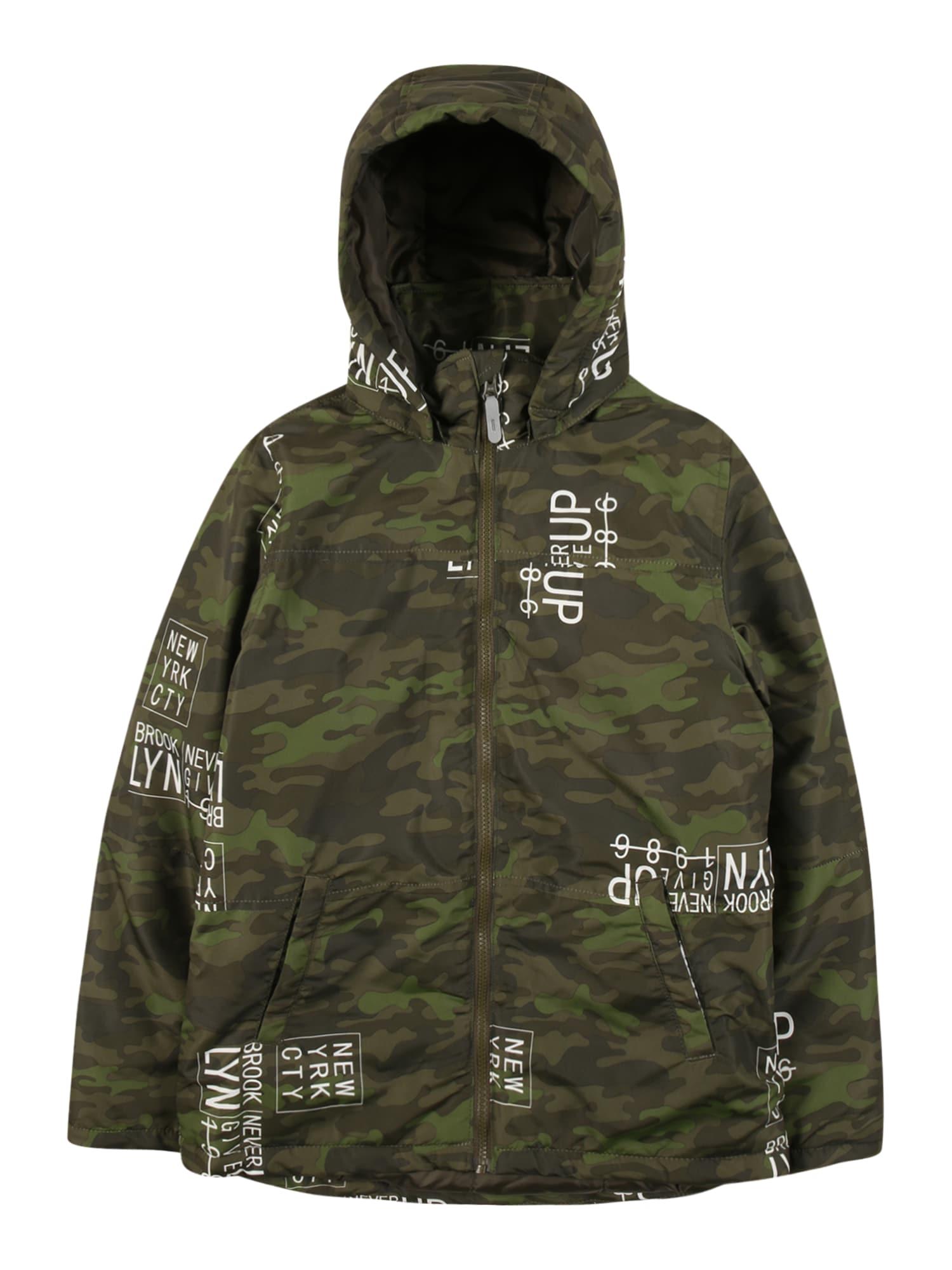 NAME IT Zimní bunda  zelená / tmavě zelená / světle zelená