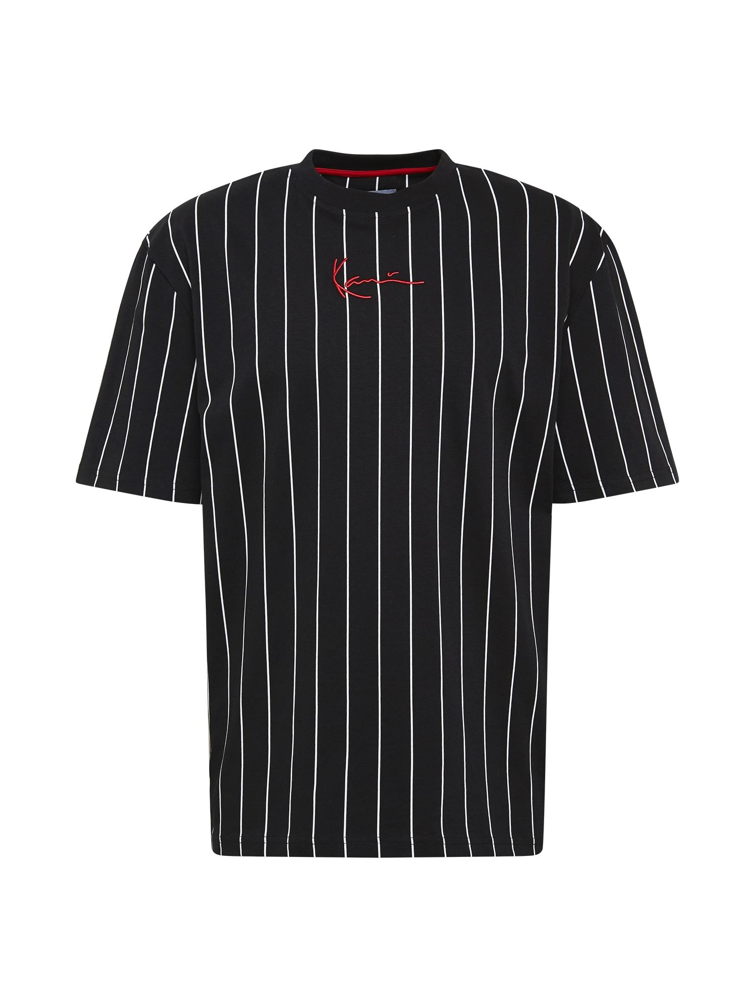 Karl Kani Marškinėliai juoda / balta / raudona