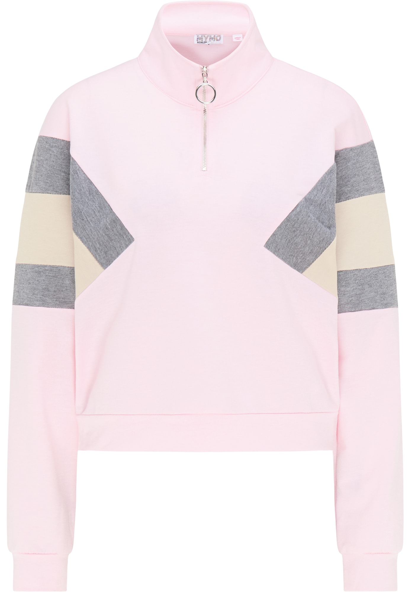 myMo ATHLSR Sportinio tipo megztinis rožinė / margai pilka / smėlio