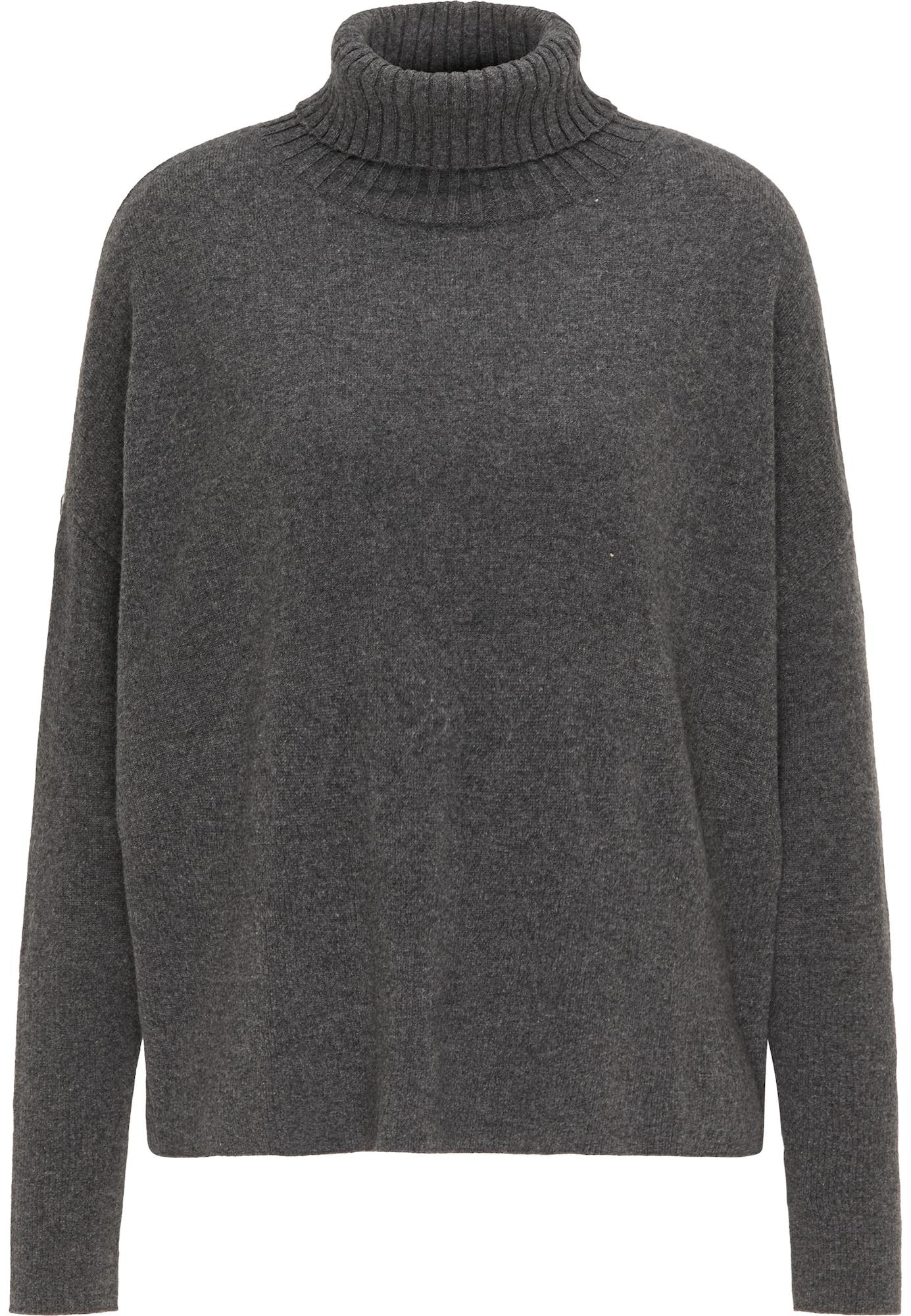 DreiMaster PREMIUM Laisvas megztinis tamsiai pilka