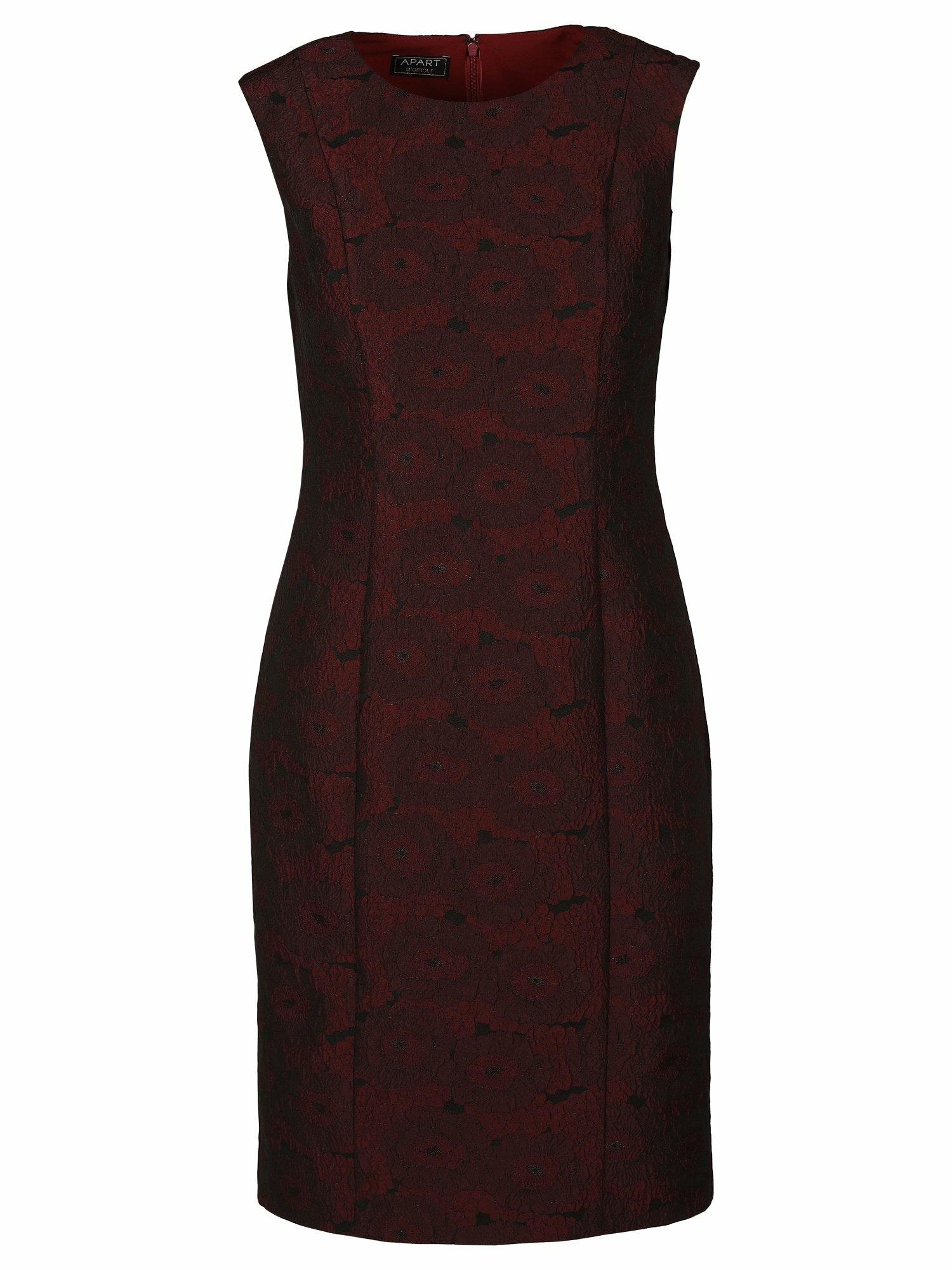 APART Trumpa kokteilinė suknelė vyšninė spalva