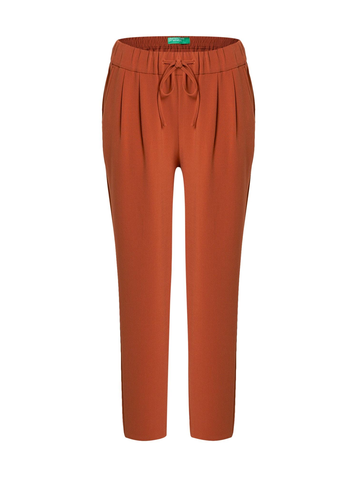 UNITED COLORS OF BENETTON Kalhoty  světle hnědá