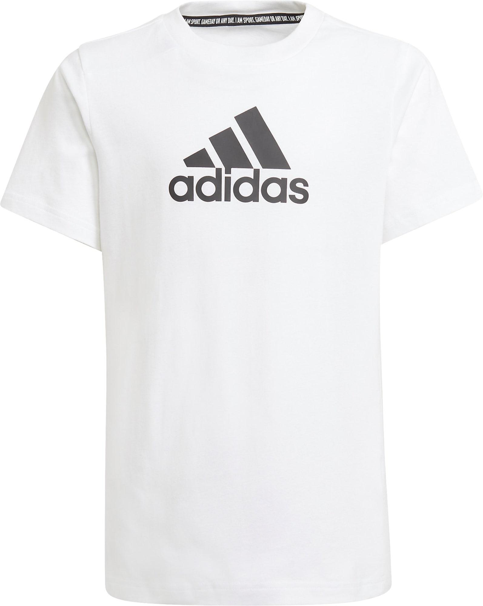 ADIDAS PERFORMANCE Sportiniai marškinėliai juoda / balkšva