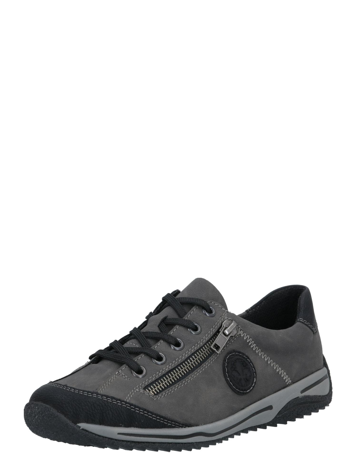RIEKER Sportinio stiliaus batai su raišteliais tamsiai pilka