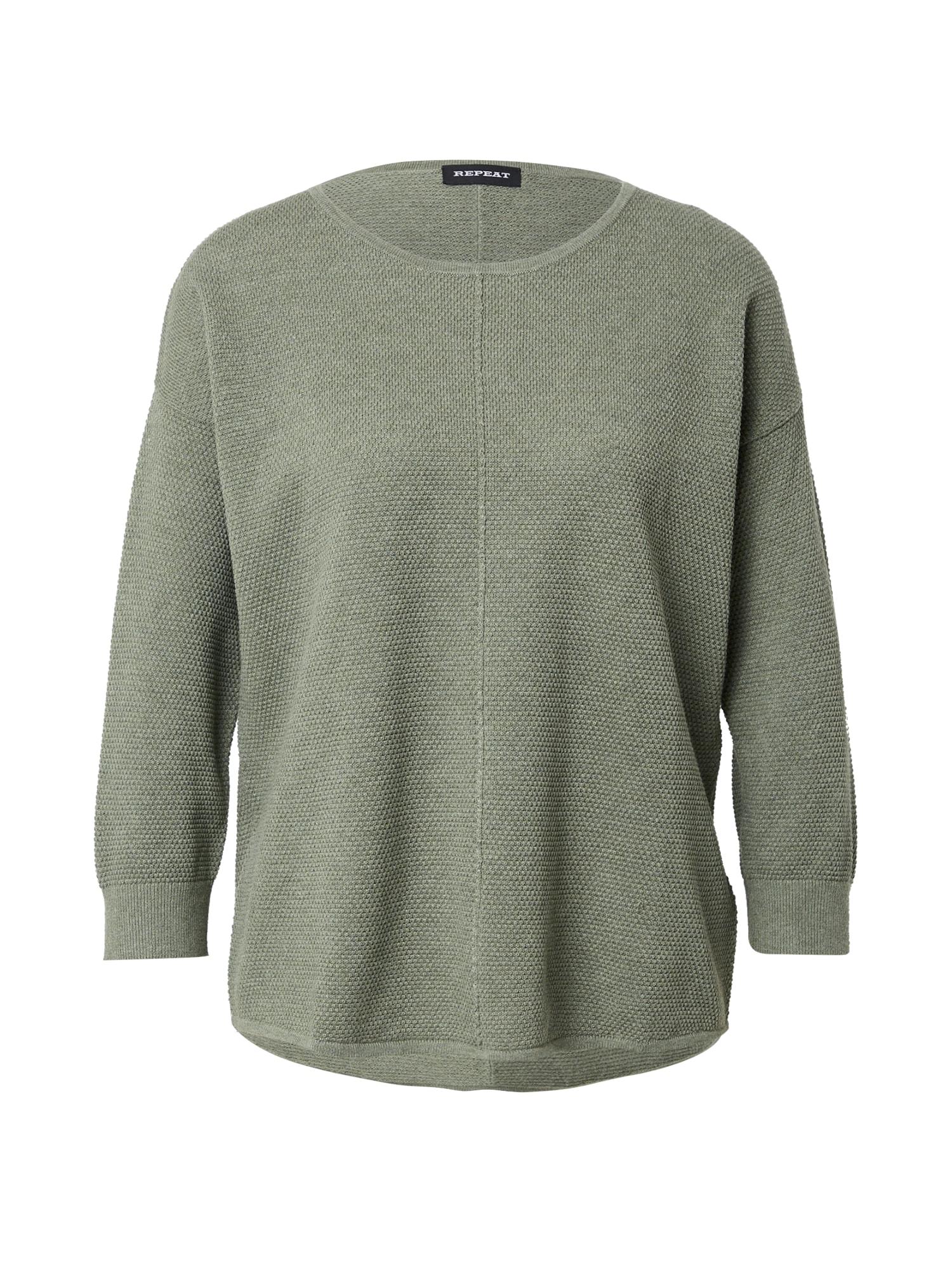 REPEAT Megztinis rusvai žalia