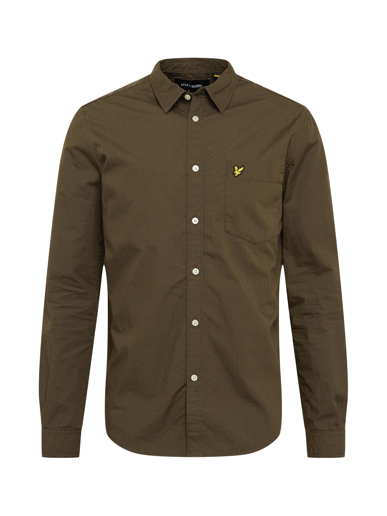 Lyle & Scott Dalykinio stiliaus marškiniai tamsiai žalia