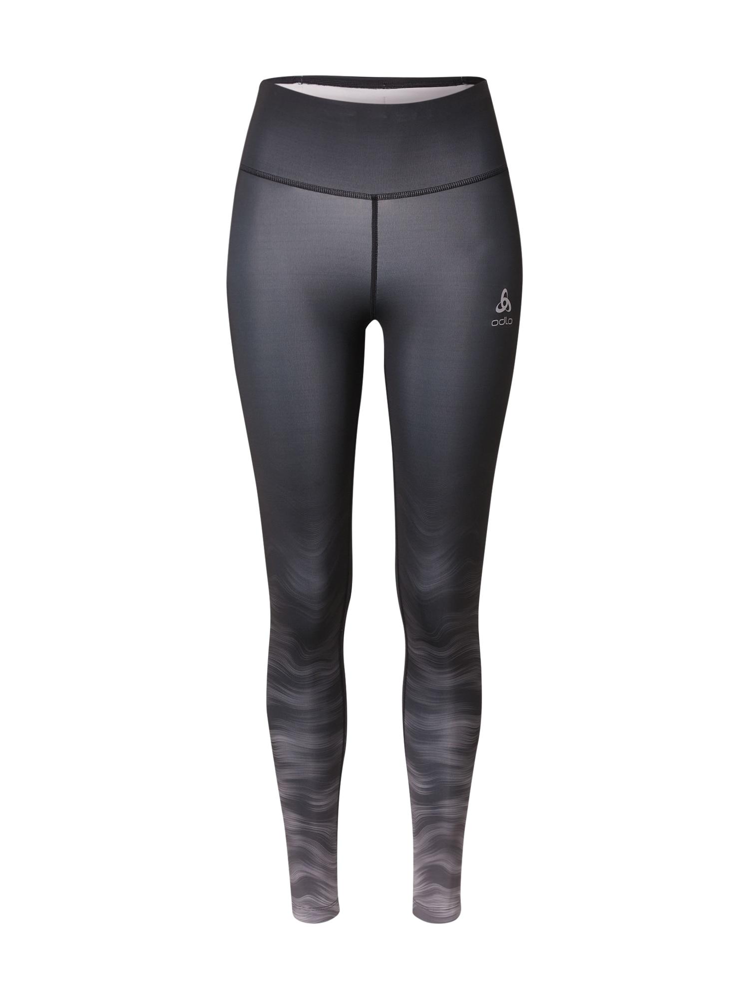 ODLO Sportinės kelnės juoda / šviesiai pilka