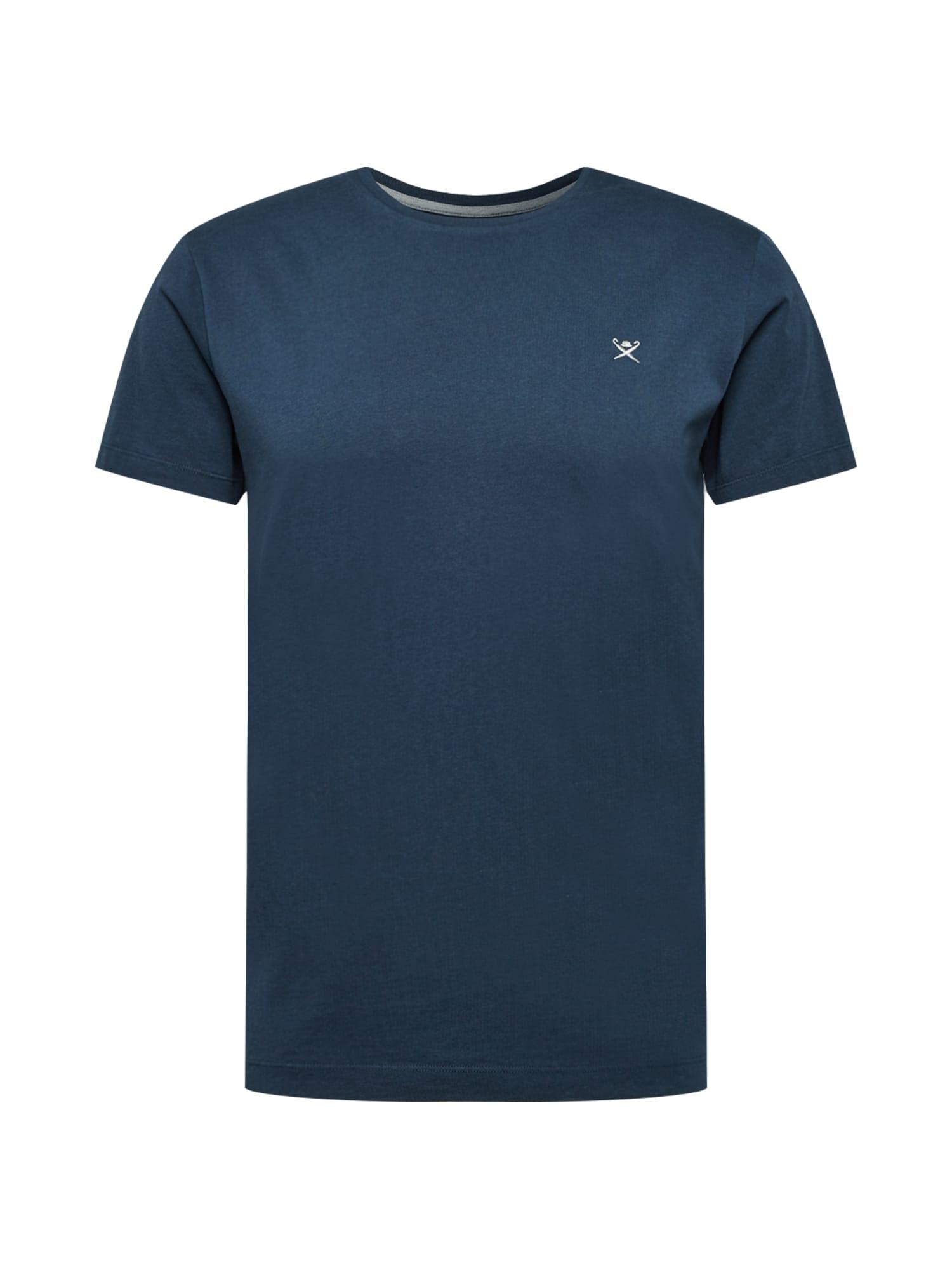 Hackett London Marškinėliai tamsiai mėlyna / pilka