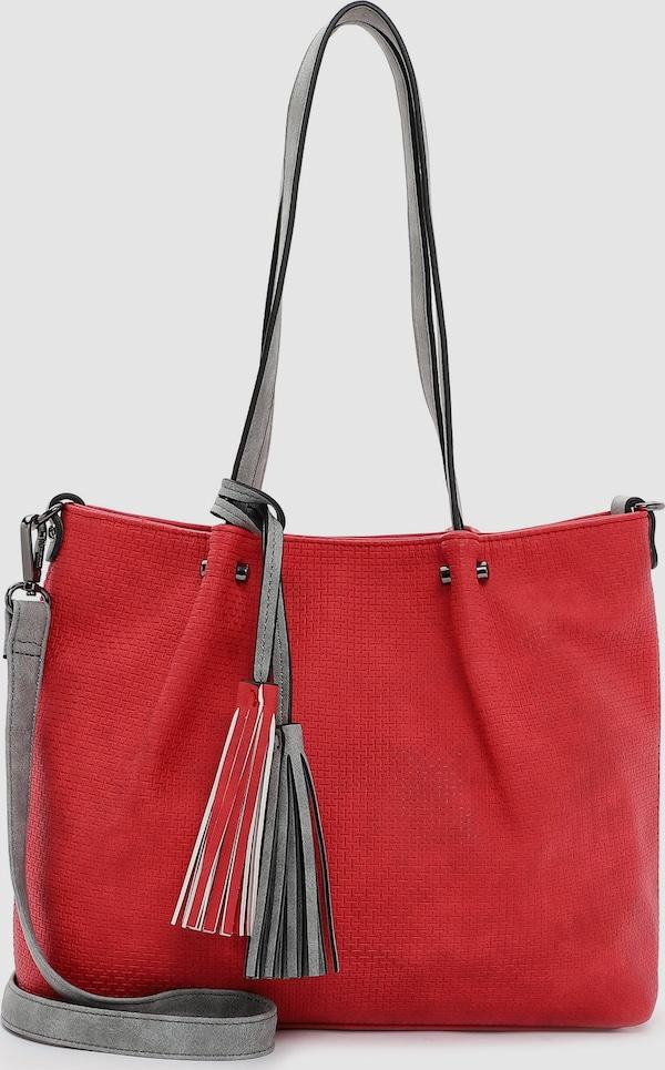 """Eine Handtasche ist wie eine gute Freundin, sie lässt einen nie im Stich und sie ist immer da wenn es drauf ankommt. Der Shopper Bag in Bag Surprise kommt im Uni-Design mit längenverstellbarem, abnehmbarem Umhängeriemen und sieht einfach gut aus. Mit Bag in Bag Surprise lässt sich ganz einfach ein lässiges Statement setzen, das auch bei Freunden und Kollegen gut ankommt. Ein Shopper, auf den immer Verlass ist. Ein ganz normaler Shopper? Nein, hier kommt das """"Bag in Bag""""-Funktionstaschensystem mit der speziellen Überraschung! Im Inneren der großen Tasche findet sich nämlich eine zweite Handtasche, die mit einem passenden Schultergurt als separate Umhängetasche getragen oder mit dem Surprise-CLIP ganz sicher und versteckt an der Außentasche befestigt wird. Der Schultergurt kann dann auch einfach am Shopper befestigt werden, sodass dieser wie eine große Umhängetasche auch crossbody über der Schulter getragen werden kann. Gefertigt aus Kunstleder ist das Modell, das sich mit einem Magnetdruckknopf verschließen lässt. Durch das Material ist es schön leicht und angenehm im Griff. Uni-Design und geprägte Optik sind fein gearbeitet und verleihen dem Shopper einen edlen Look. Fantastische Auswahl wunderschöner Taschen und Accessoires - EMILY & NOAH. Mit dem Accessoire von EMILY & NOAH wird ein ganz und gar individueller Stil kreiert. Kombiniert mit einem schicken Hosenanzug, einem Kleid oder einer modischen Tunika zeigen die Produkte des Labels echte Persönlichkeit. Das Modell Bag in Bag Surprise ist von der Haptik eher weich und daher wirklich angenehm zu tragen. Eine Quaste schmückt optisch und hebt das ausgefallene Design dieses neuen Favorites hervor. Das neue Lieblingsstück wird dank längenverstellbarem, abnehmbarem Umhängeriemen und zwei Tragegriffen einfach und bequem über der Schulter getragen. Viel Platz für alles, was unterwegs dabei sein muss, bietet der Shopper."""