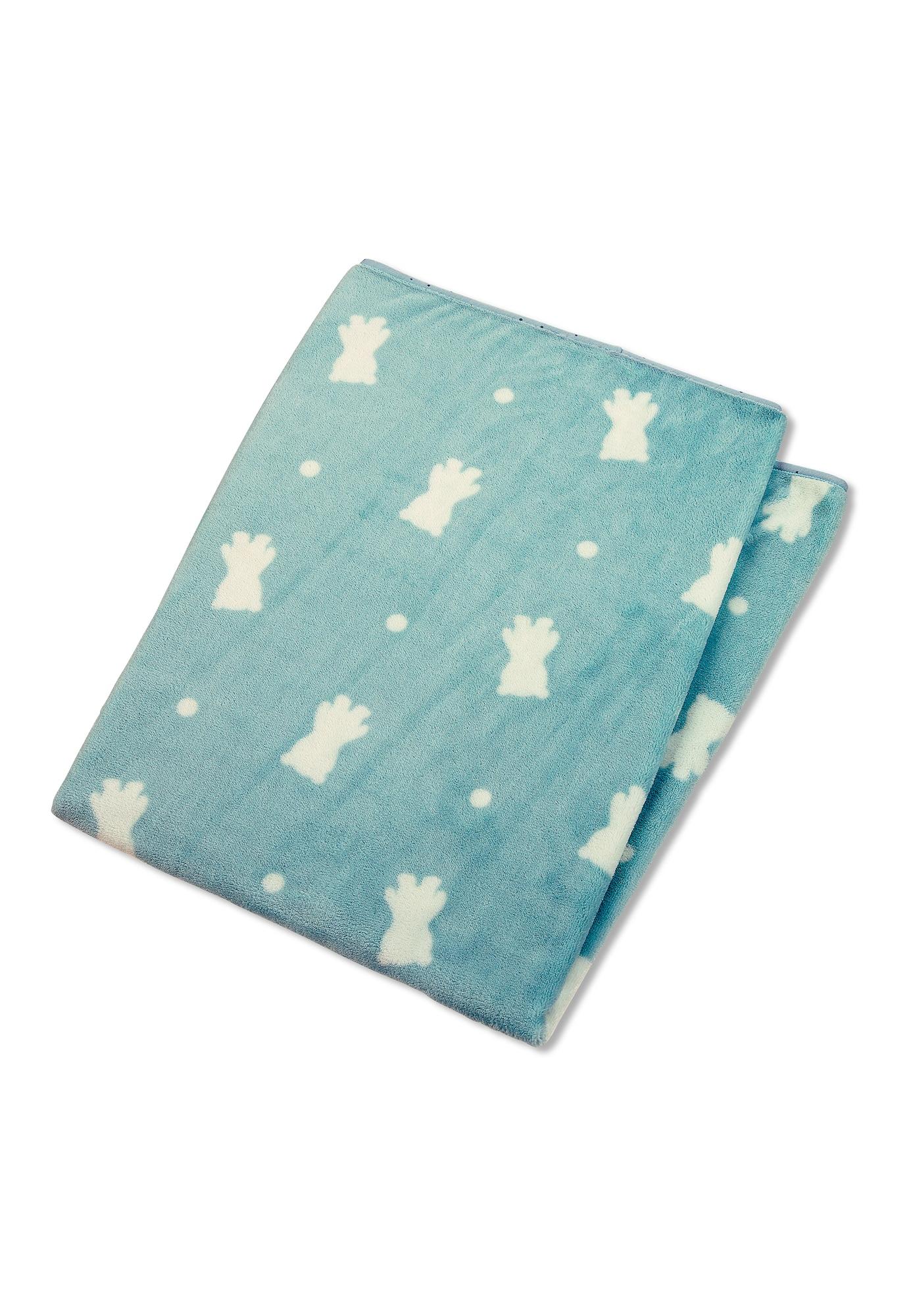 STERNTALER Kūdikio antklodė balta / tamsiai žalia