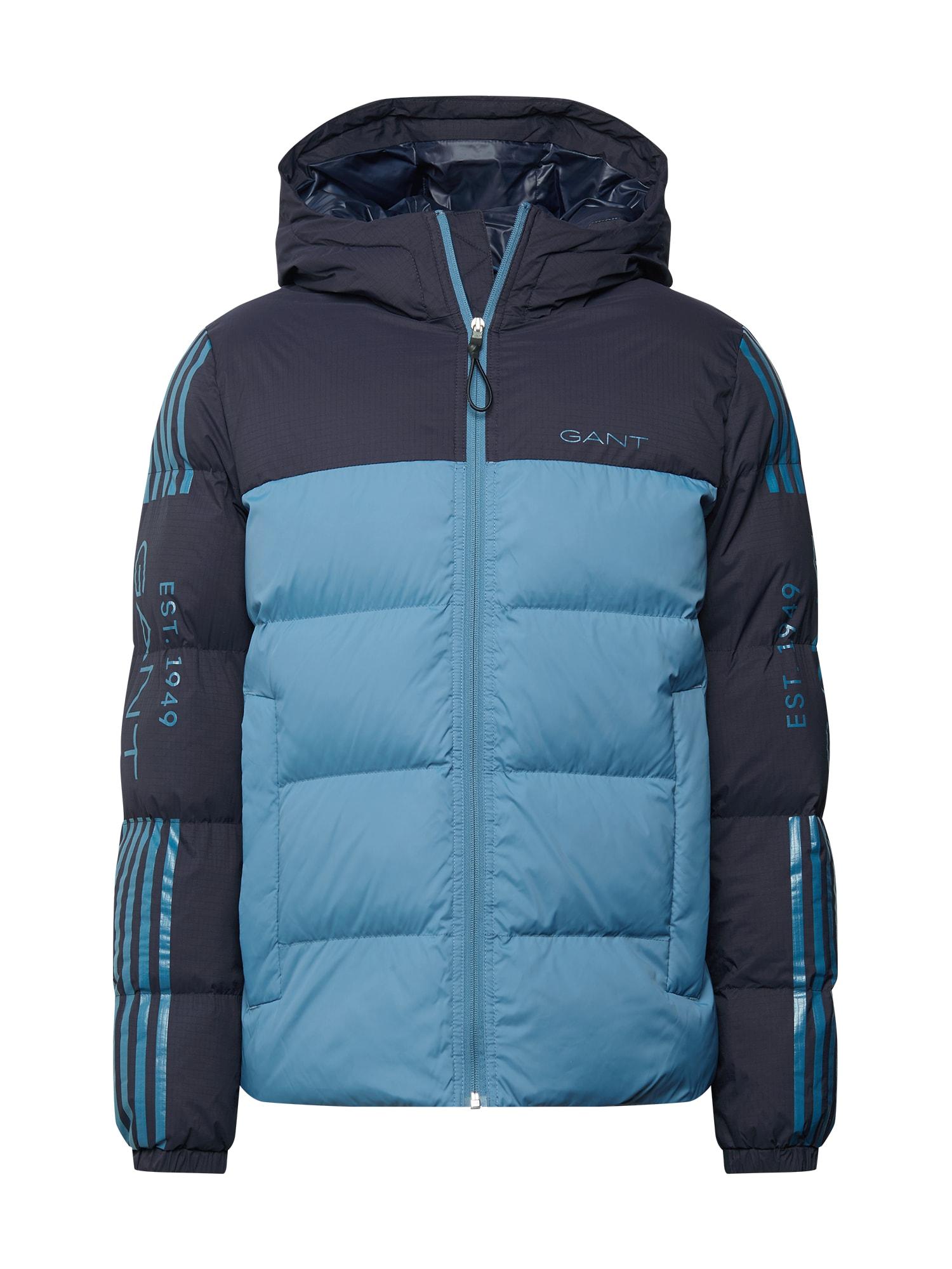 GANT Žieminė striukė turkio spalva / tamsiai mėlyna