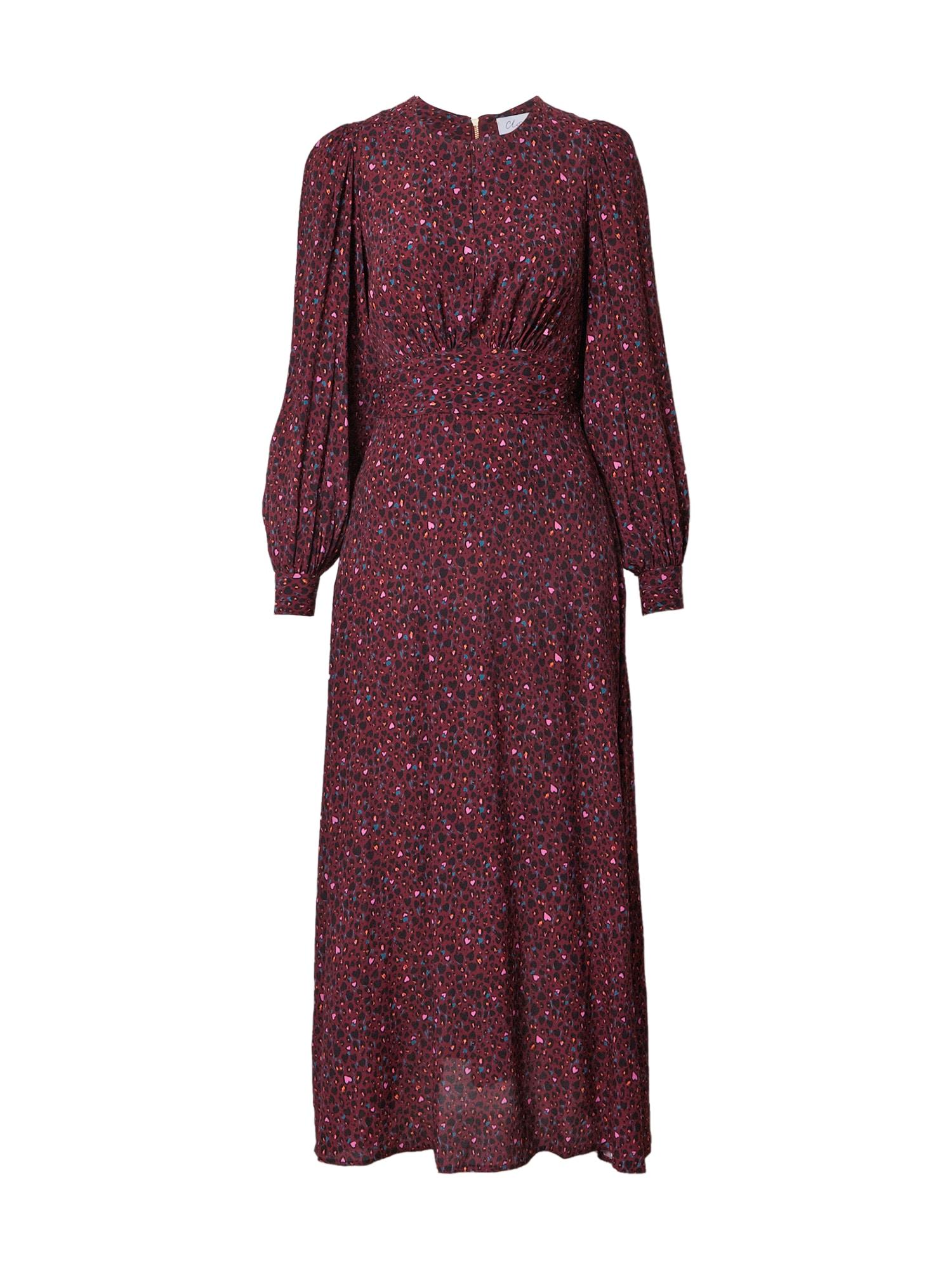 Closet London Suknelė burgundiško vyno spalva / mišrios spalvos