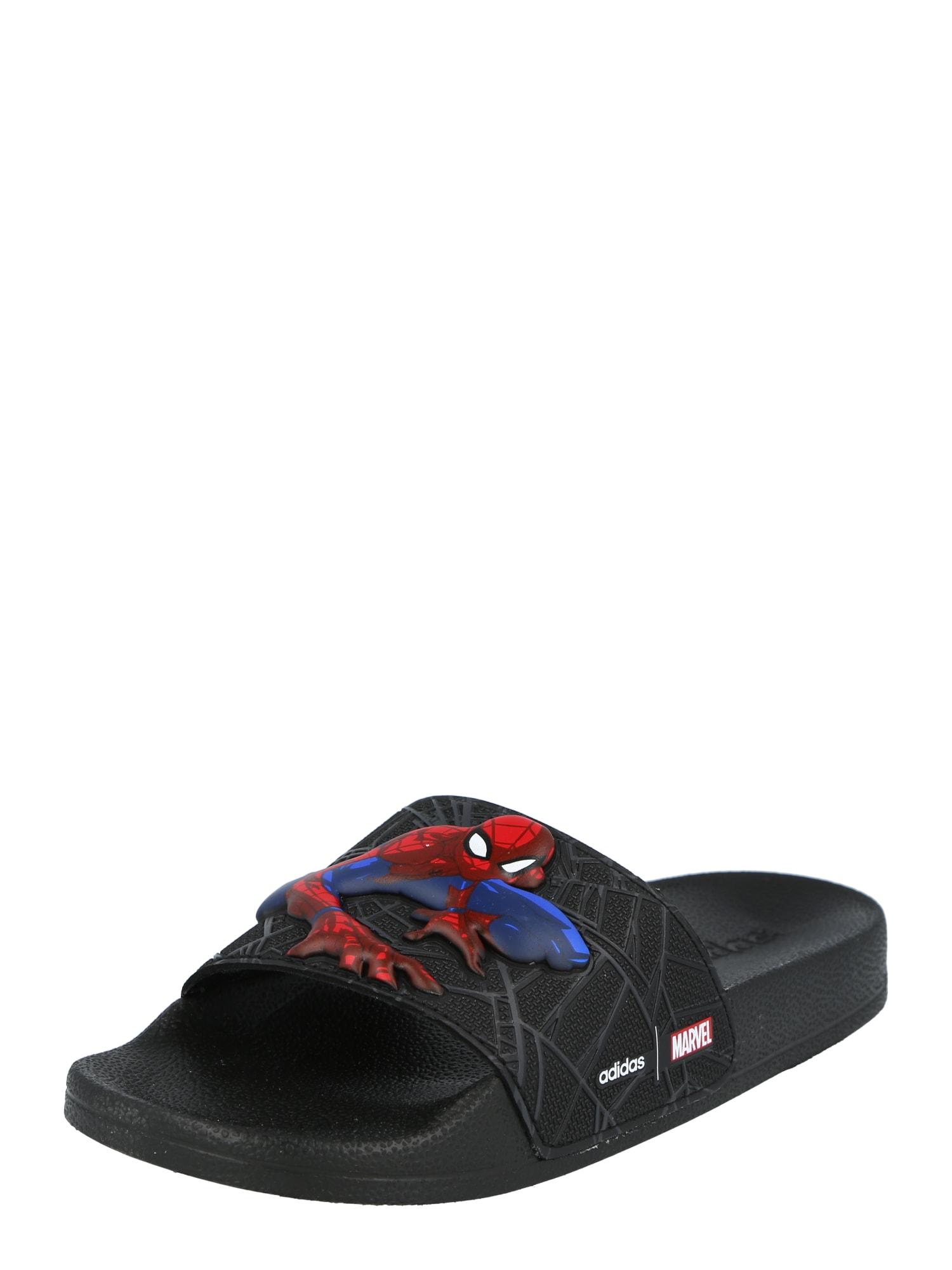ADIDAS PERFORMANCE Sandalai / maudymosi batai juoda / mėlyna / raudona