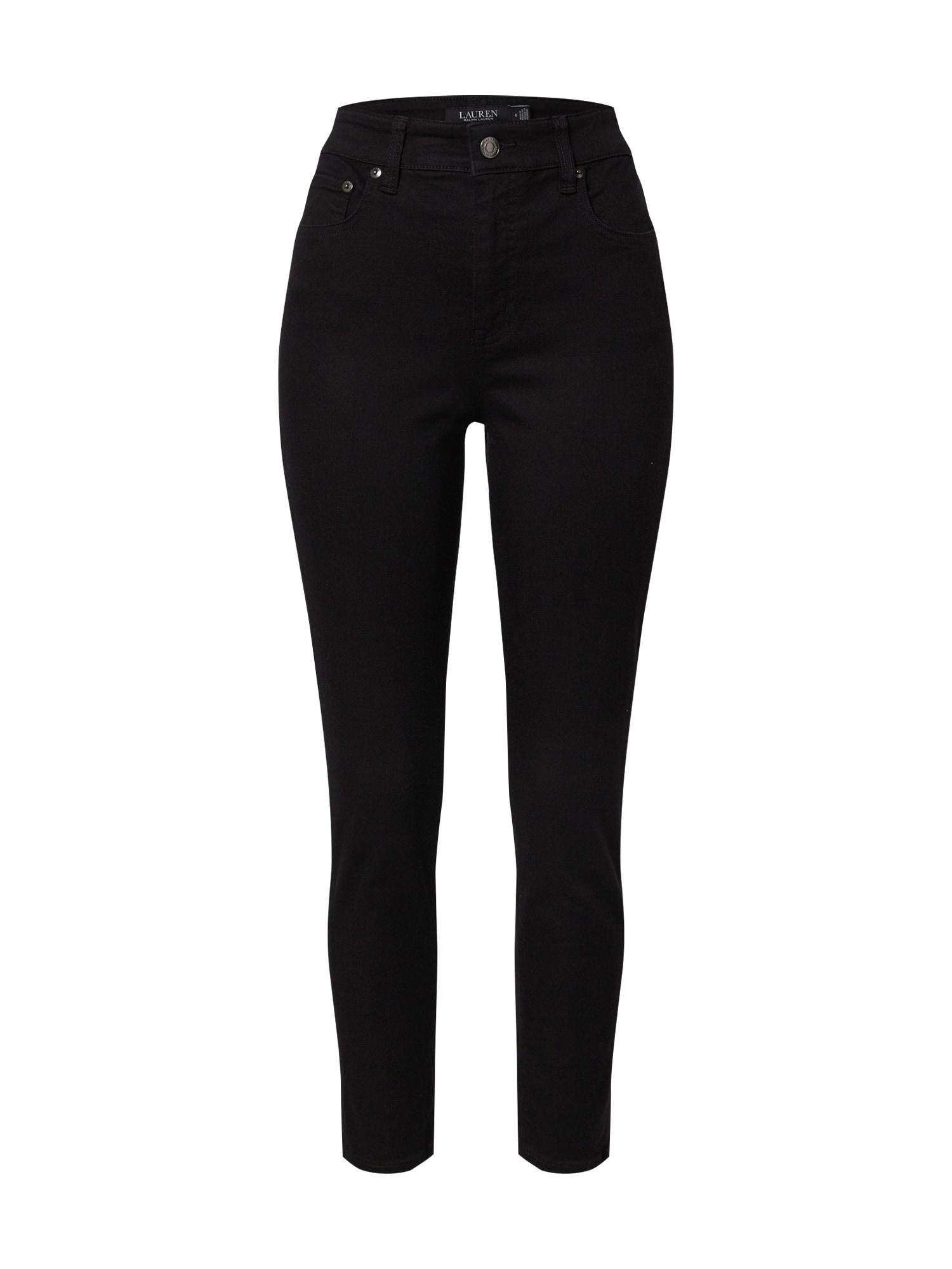 Lauren Ralph Lauren Džinsai juodo džinso spalva