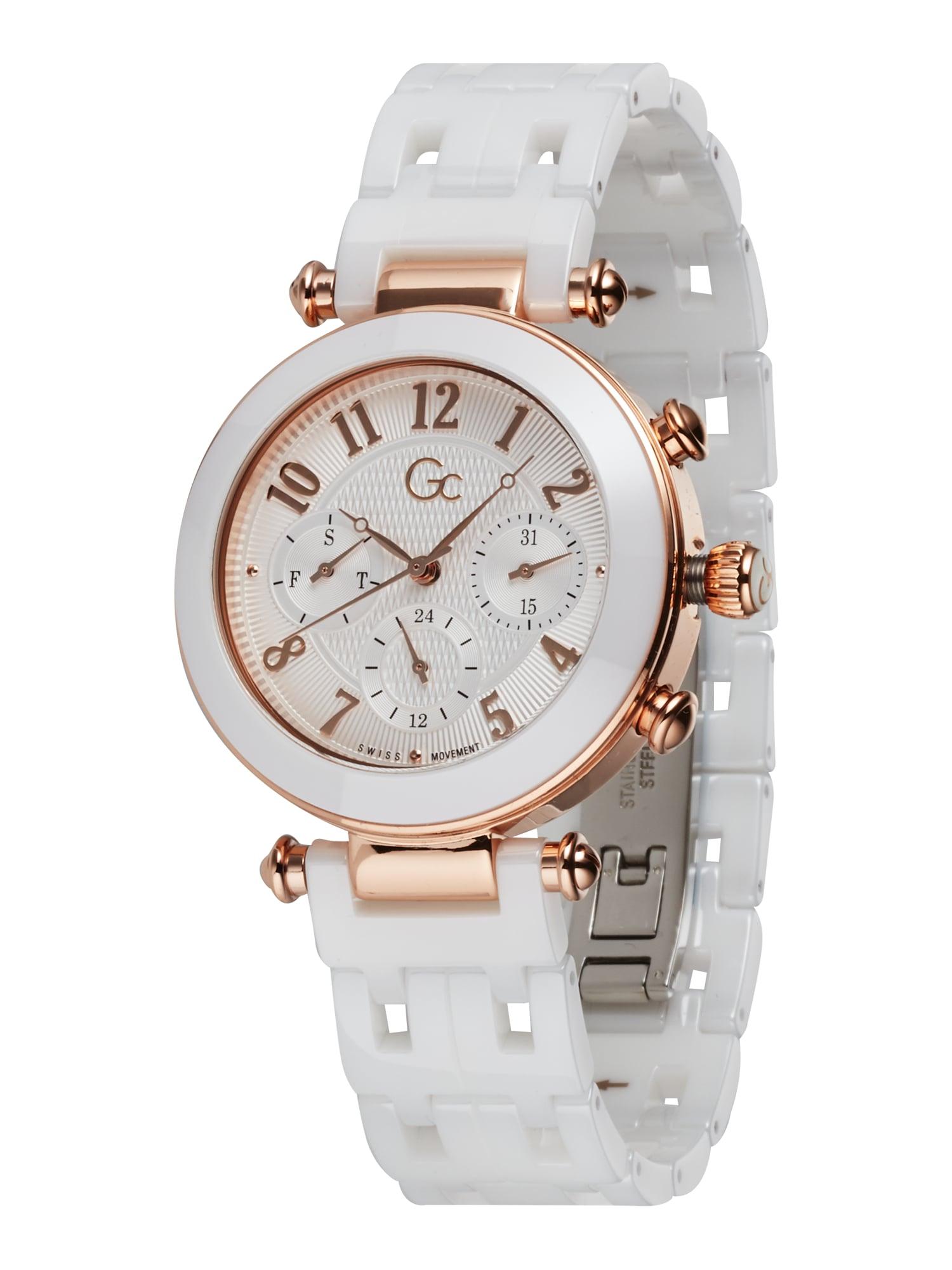 Gc Analoginis (įprasto dizaino) laikrodis rožinio aukso spalva / balta