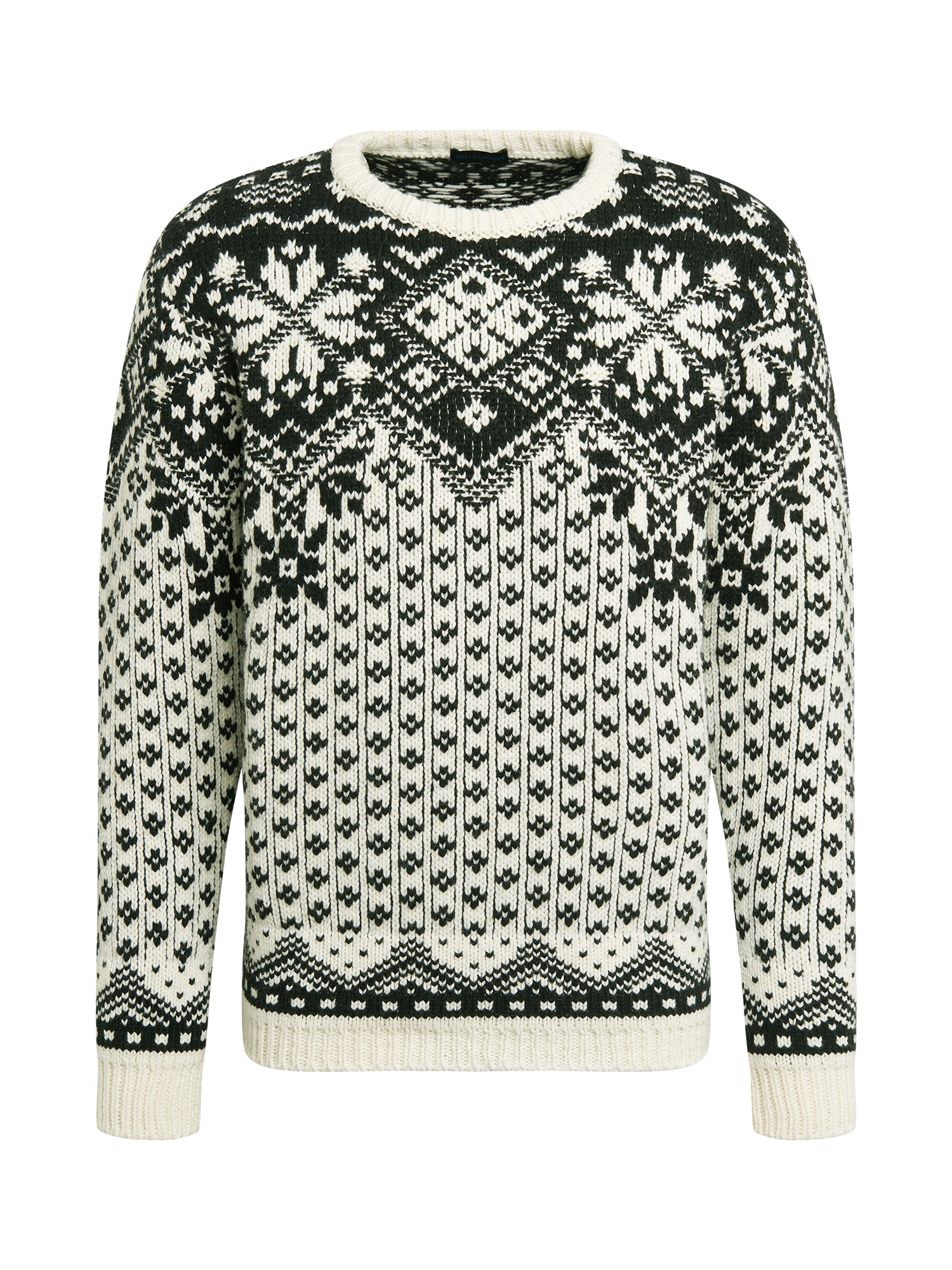 Best Company Megztinis balta / tamsiai žalia
