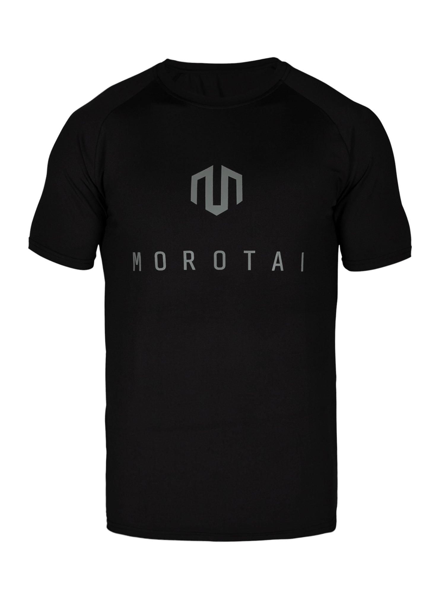 MOROTAI Sportiniai marškinėliai juoda / sidabro pilka