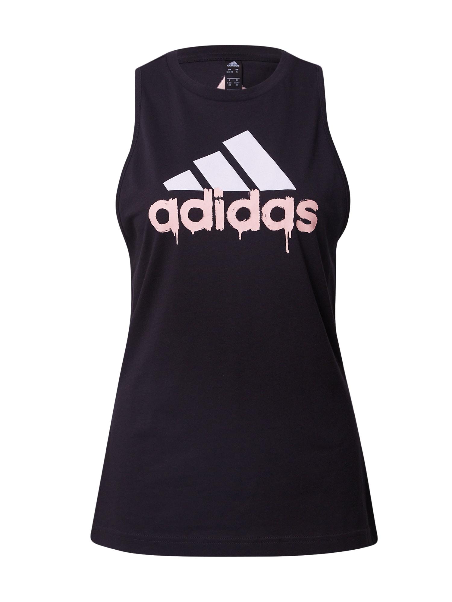 ADIDAS PERFORMANCE Sportiniai marškinėliai be rankovių juoda / balta / rožinė