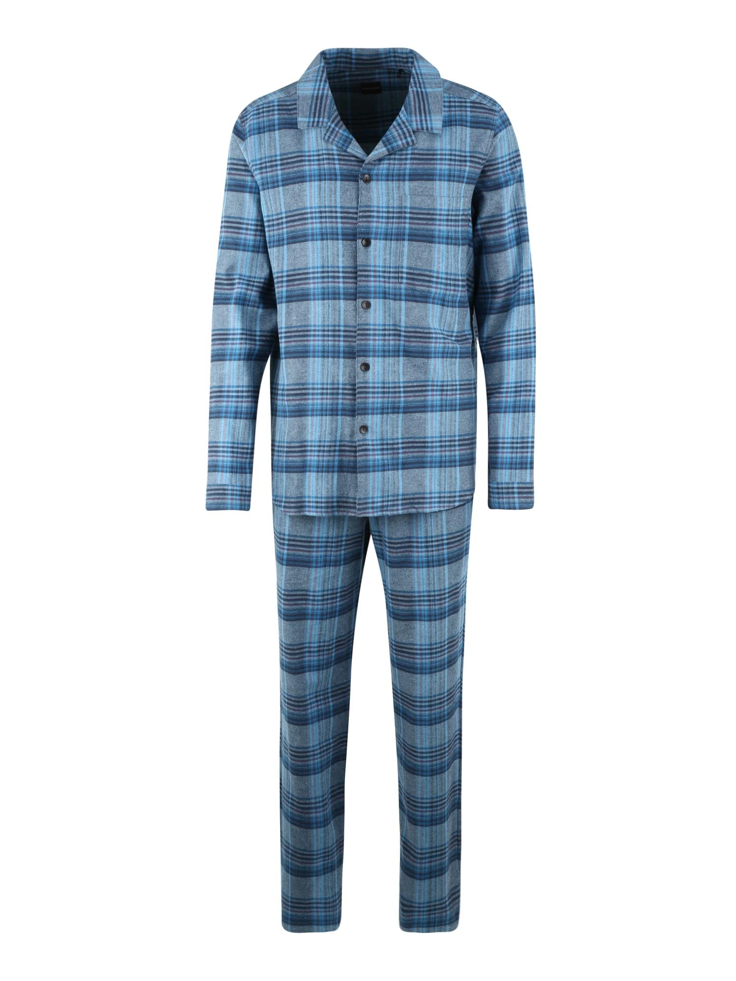 SCHIESSER Pyžamo dlouhé  kouřově modrá / nebeská modř