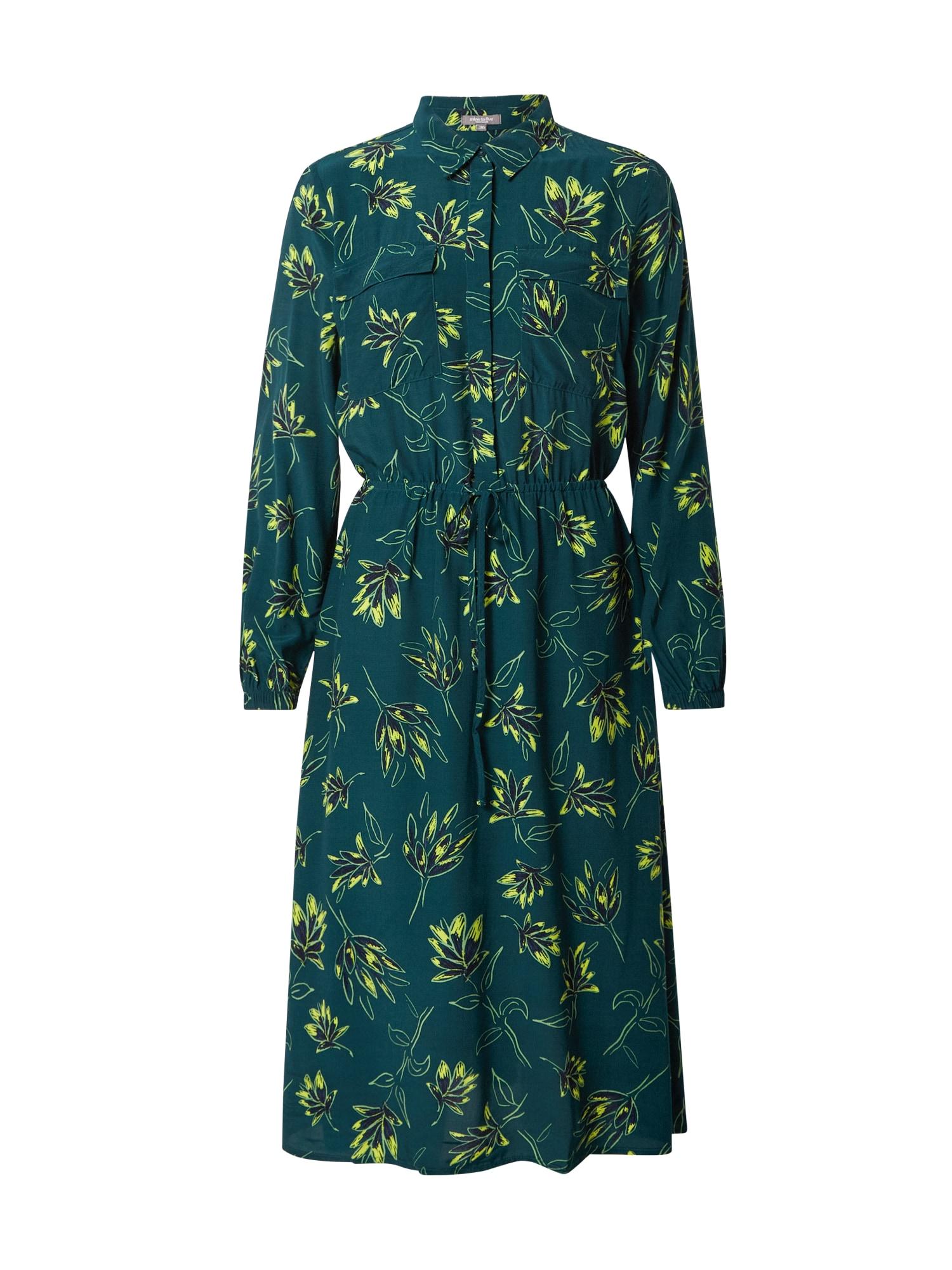 MINE TO FIVE Palaidinės tipo suknelė tamsiai žalia / šviesiai žalia