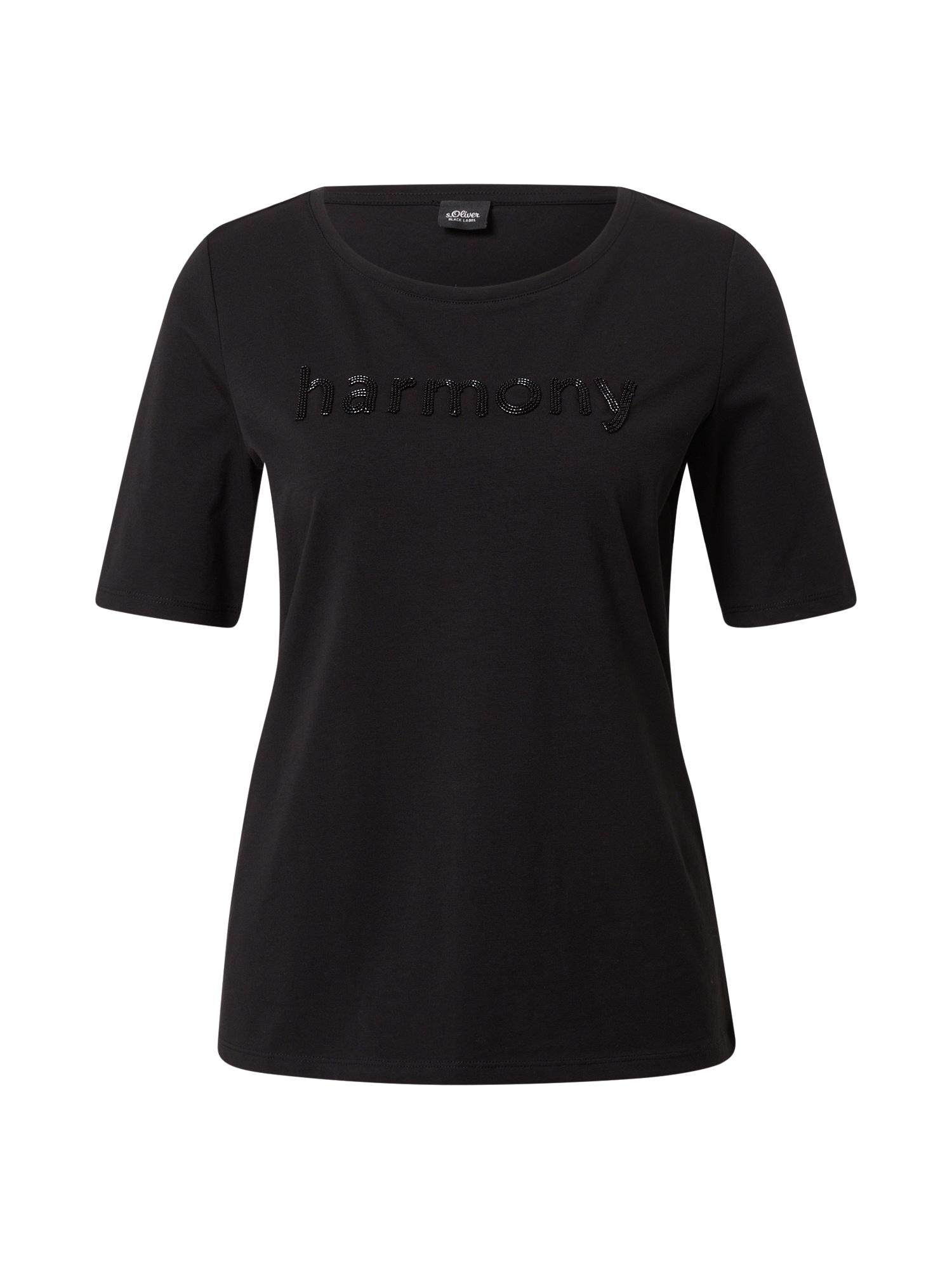 s.Oliver BLACK LABEL Marškinėliai juoda