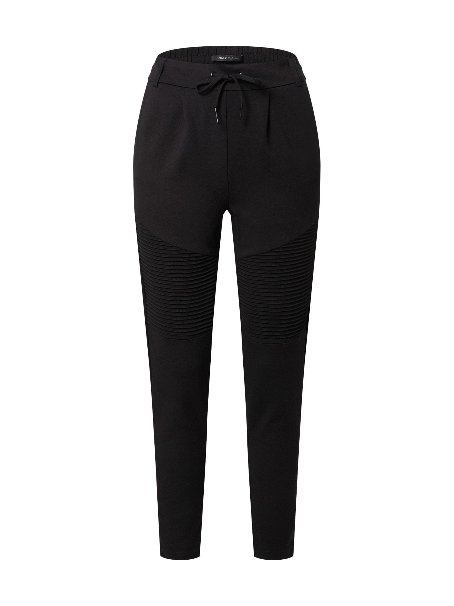 ONLY Kalhoty se sklady v pase 'Poptrash'  černá