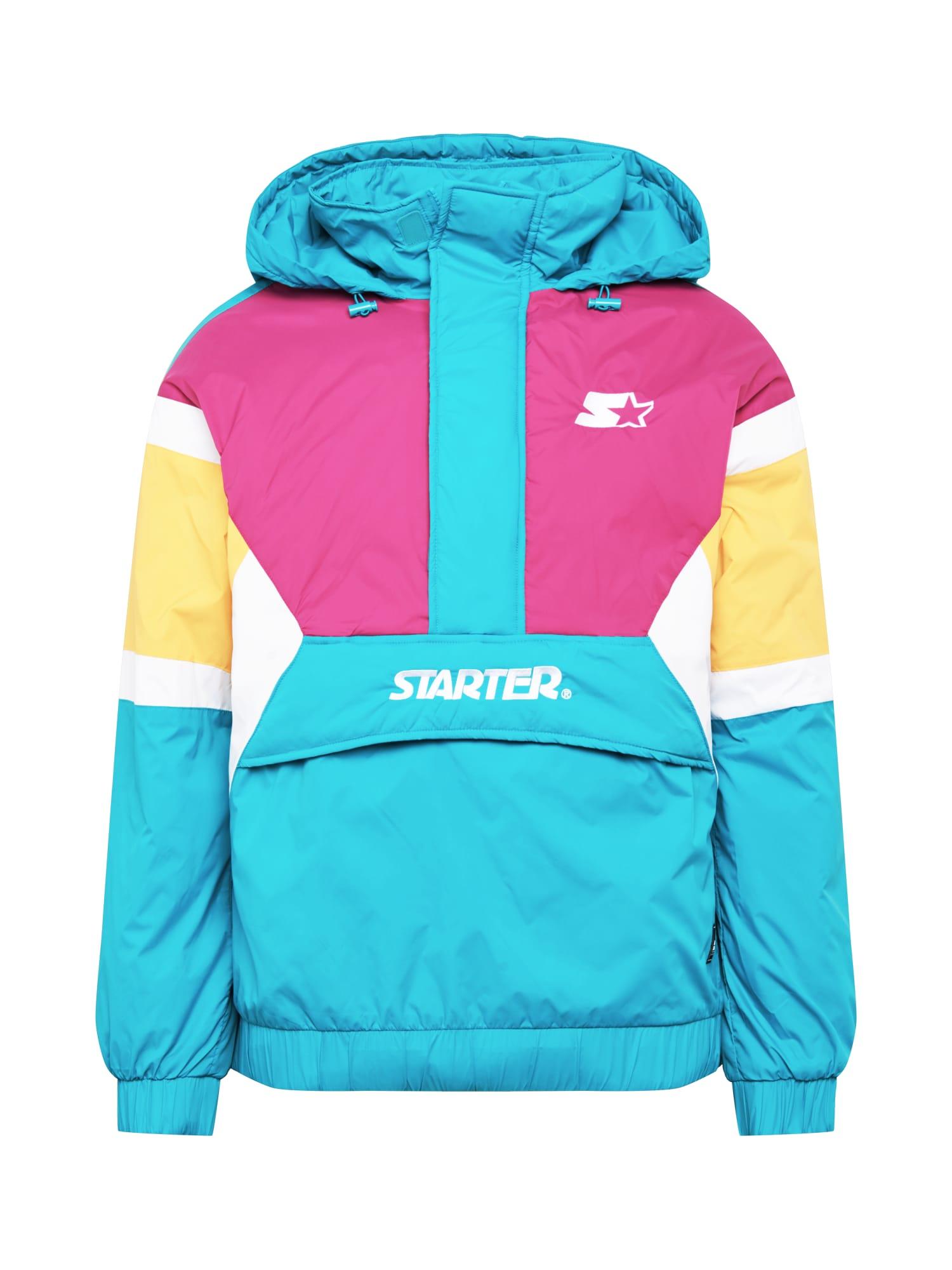 Starter Black Label Demisezoninė striukė turkio spalva / rožinė / geltona / balta
